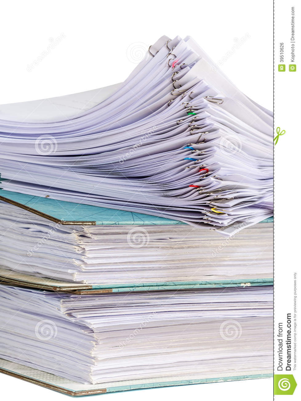 Documents isolated on white