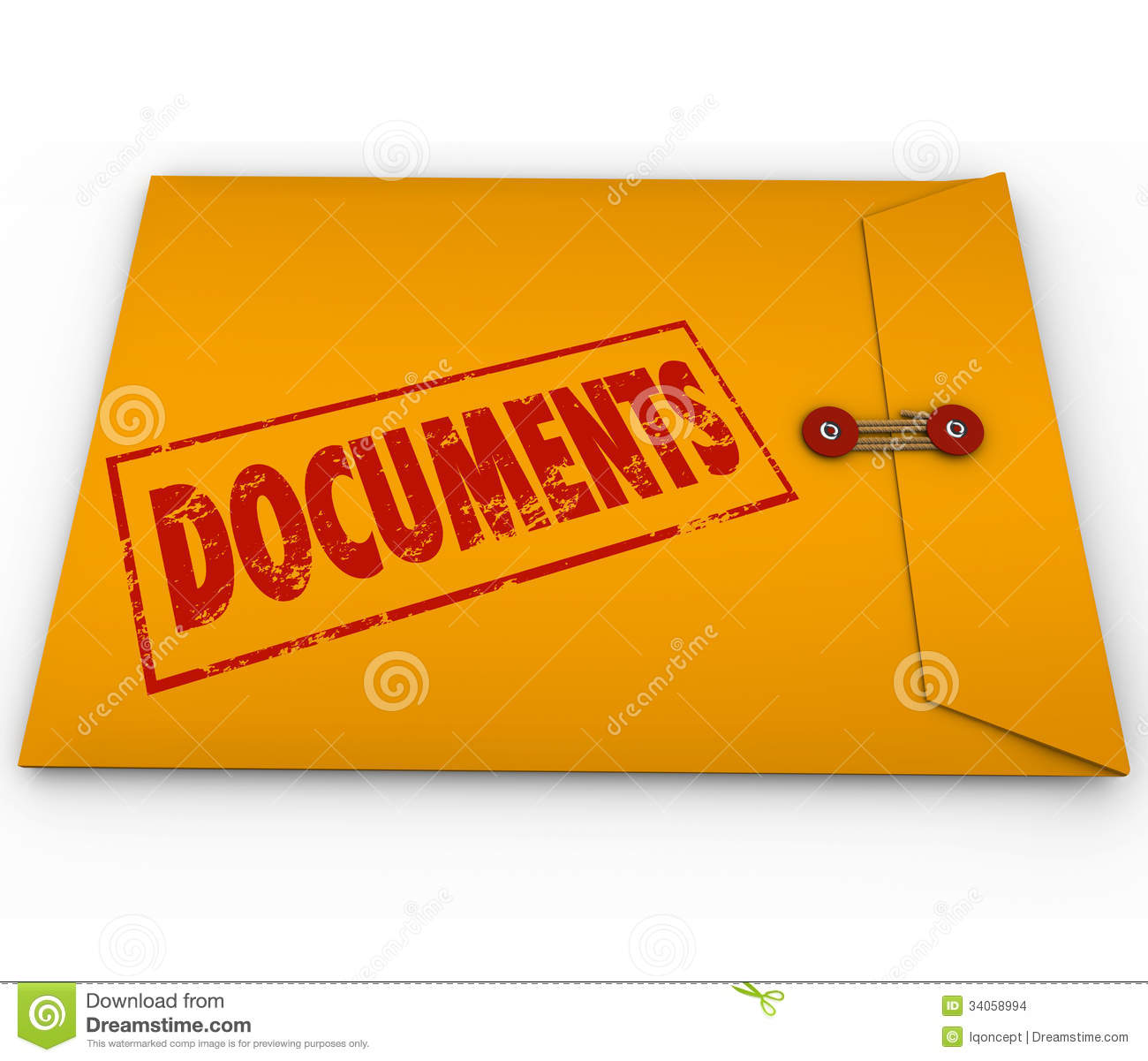 Documents Sealed Yellow Envelope Important Devliery ...