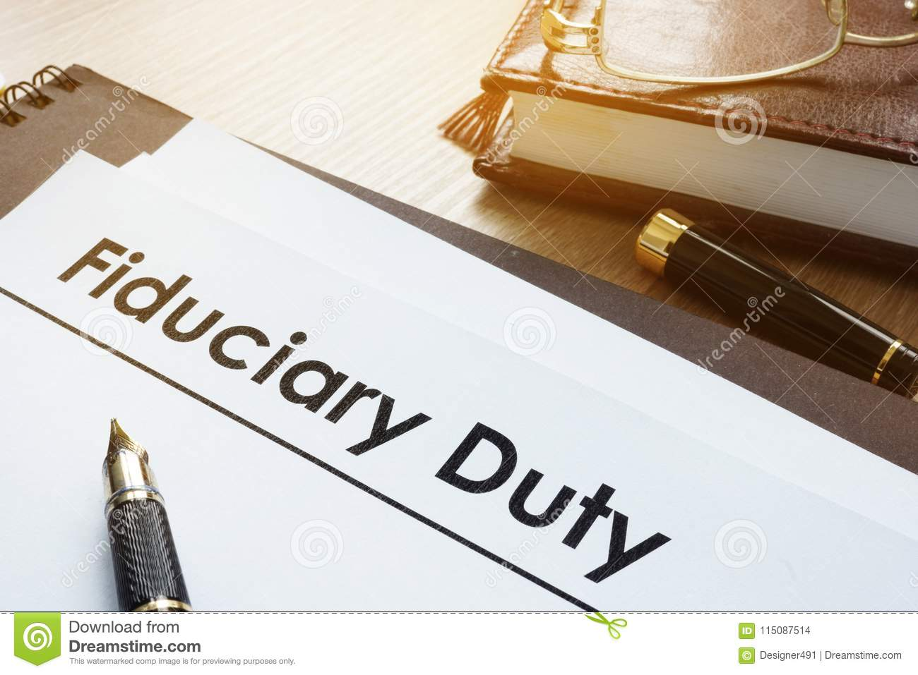 Documents with title fiduciary duty.