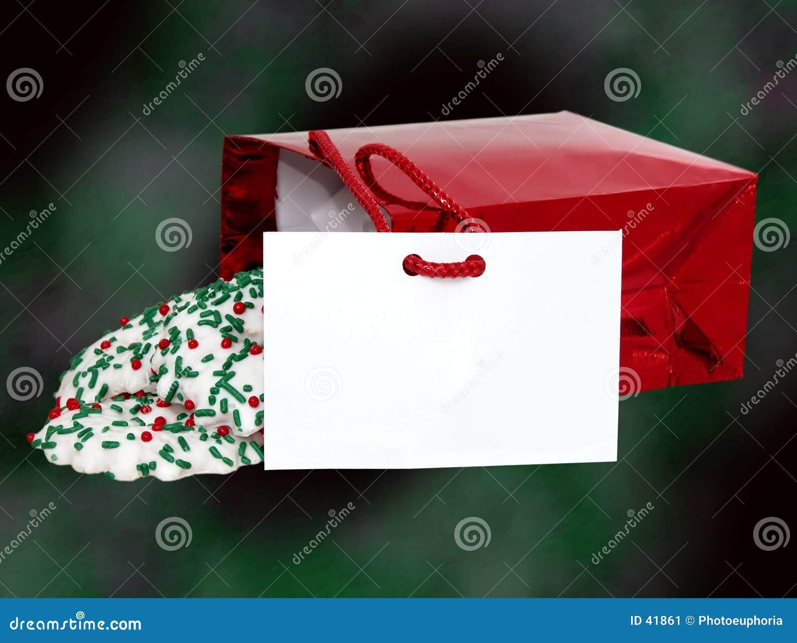 Download Dodaje Się Tekst Toreb Ciasteczka Obraz Stock - Obraz złożonej z christmas, teraźniejszość: 41861