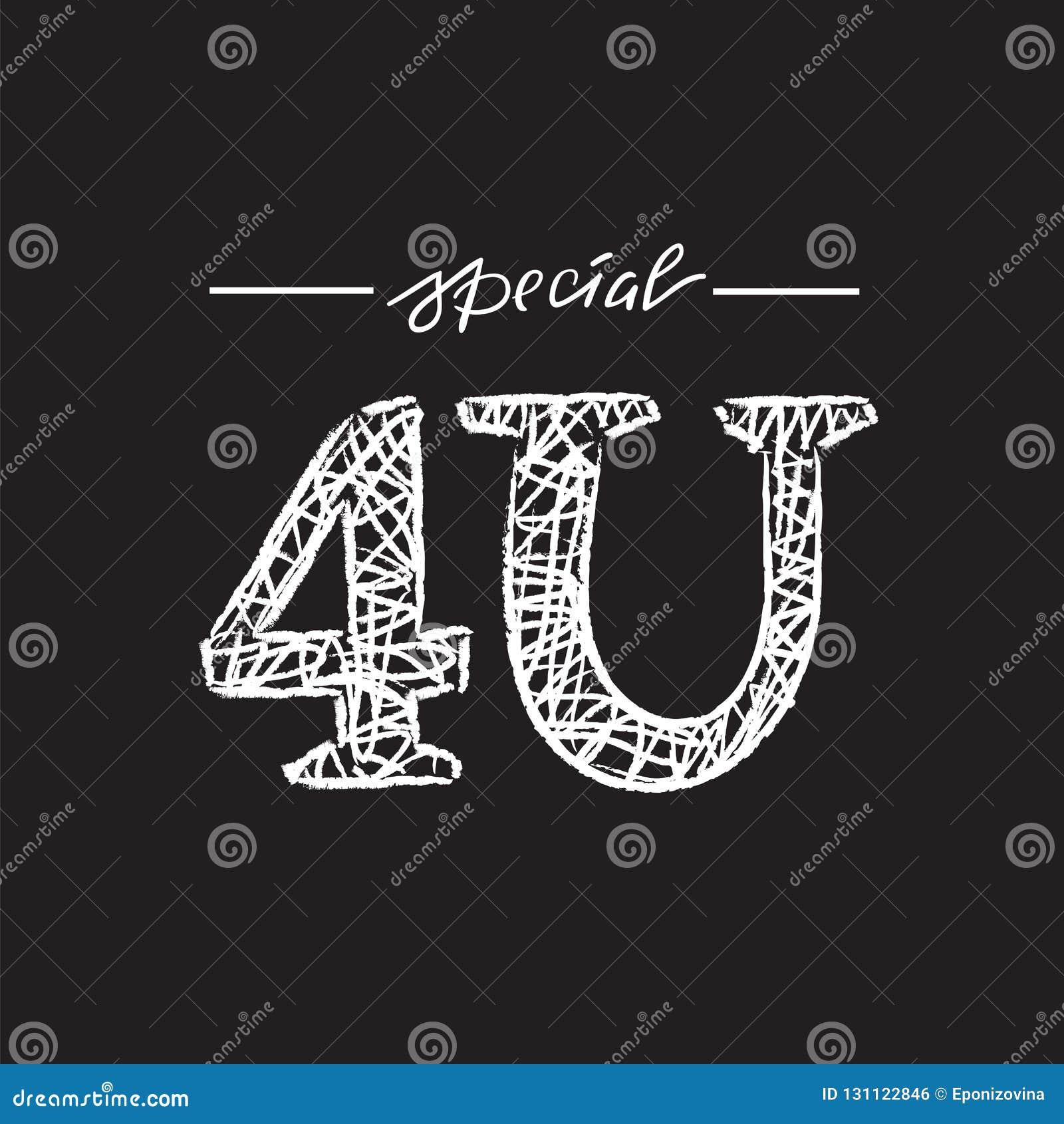 Dodatek specjalny 4U dla ciebie - prosty inspiruje i motywacyjna wycena Ręka rysujący literowanie Druk dla inspiracyjnego plakata