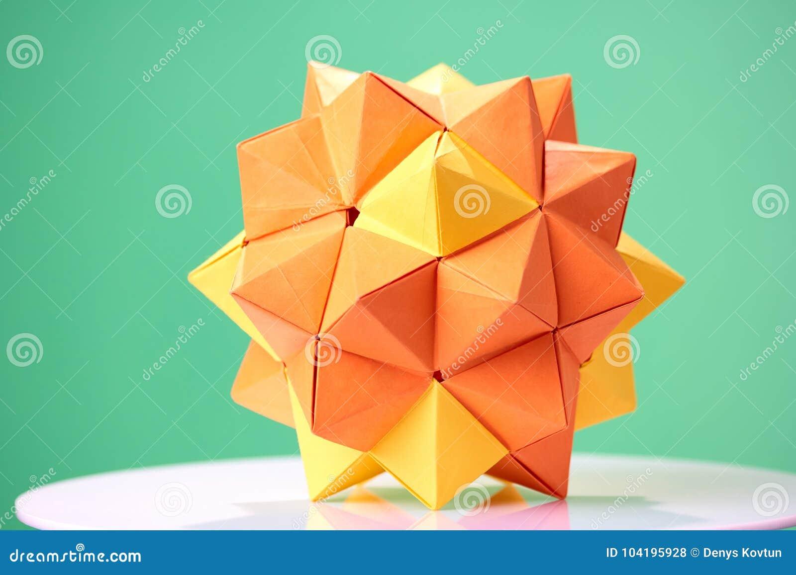 Origami Dodecahedron | Origami, Dodecahedron, Paper flowers | 957x1300