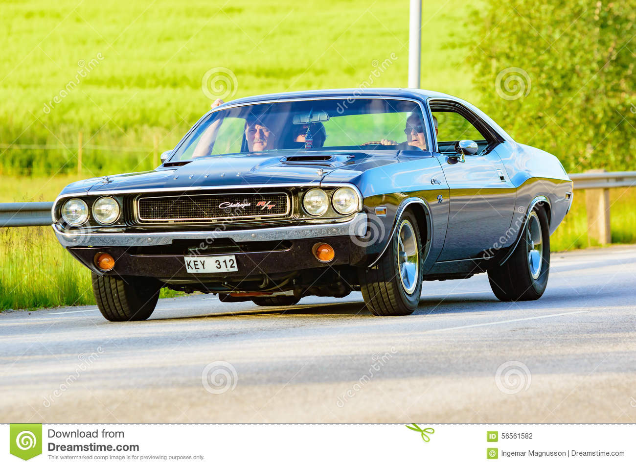 Dodge Challenger 1970 Black Editorial Photography Image Of People