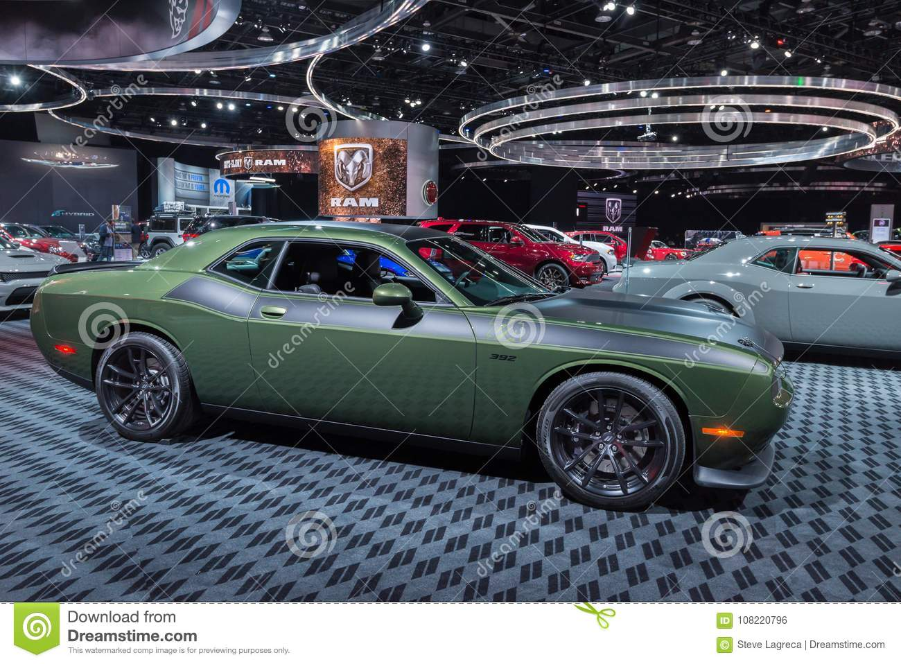 Dodge Challenger TA NAIAS Editorial Photo Image Of - Dodge car show 2018