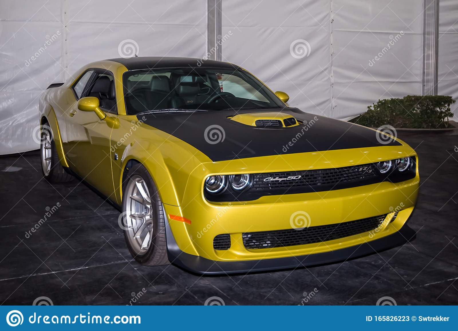 2020 Dodge Challenger 50th Anniversary Edition Editorial Stock Photo Image Of Indoor Angeles 165826223