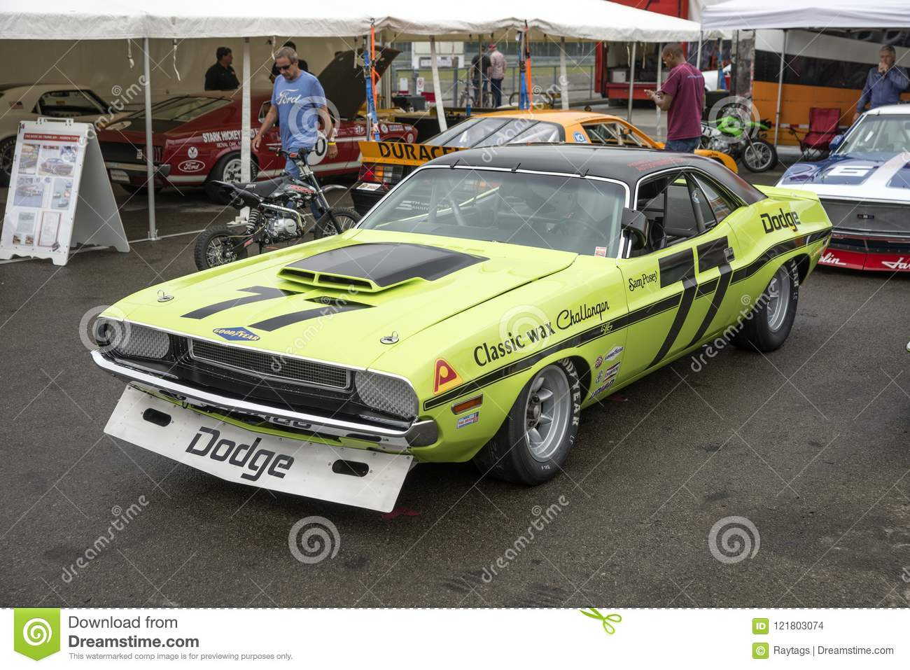 Dodge Challenger Trans Am Race Car Editorial Stock Image Image Of