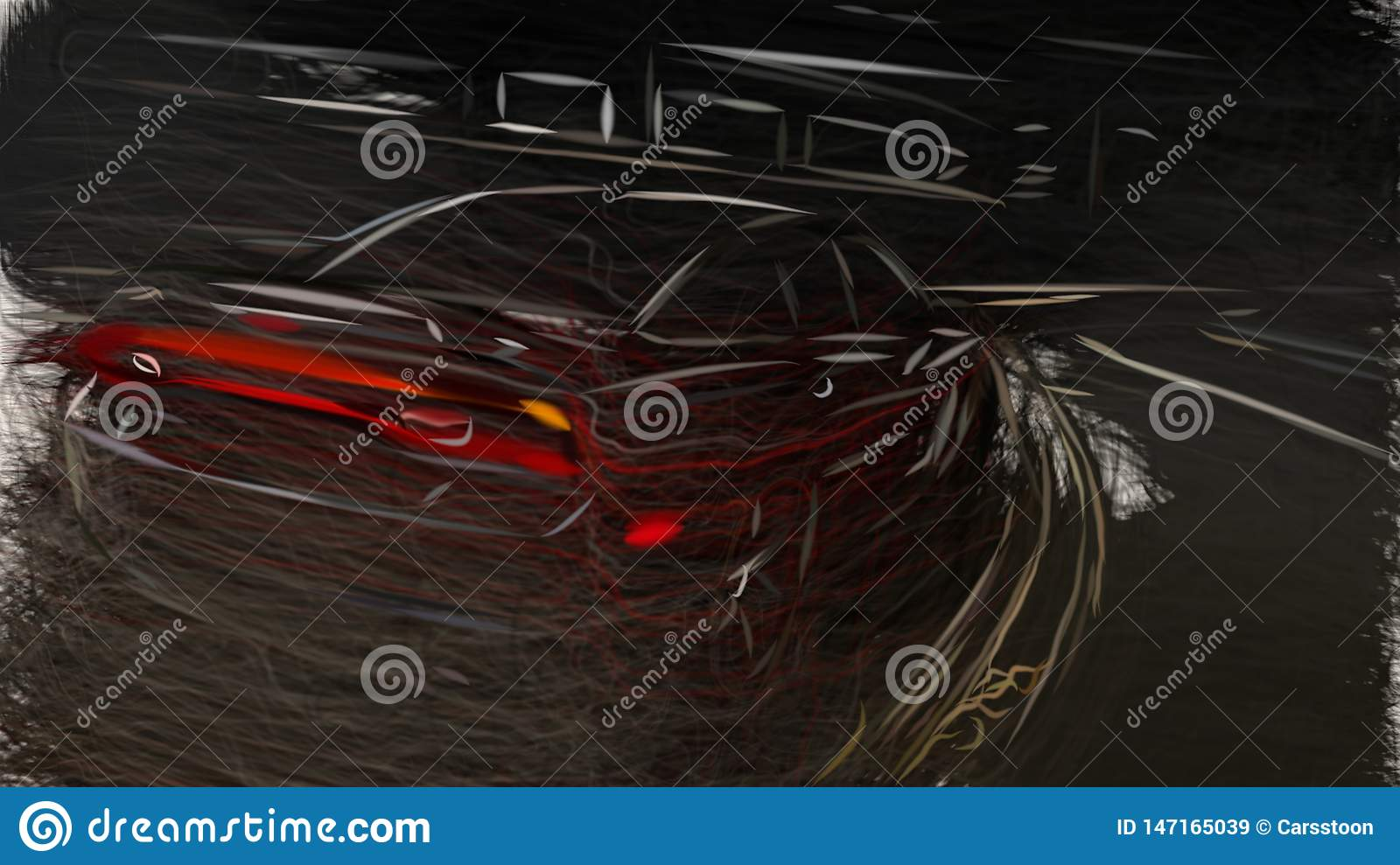 2012 Dodge Charger Blacktop Id 6748 Stock Illustration