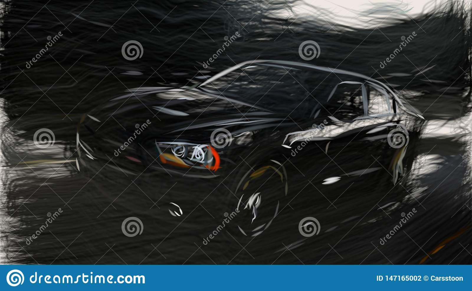 2012 Dodge Charger Blacktop Id 6746 Stock Illustration