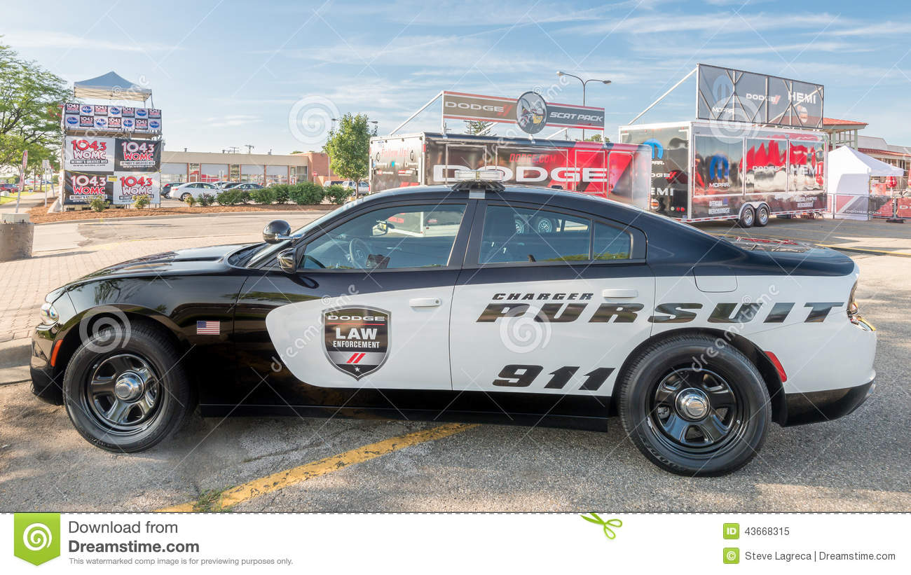 Dodge Charger Police Car At The Woodward Dream Cruise Editorial