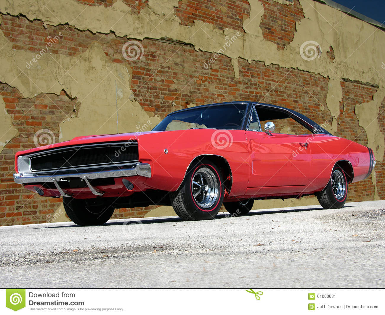 1968 Dodge Charger Rt Stock Photo Image 61003631