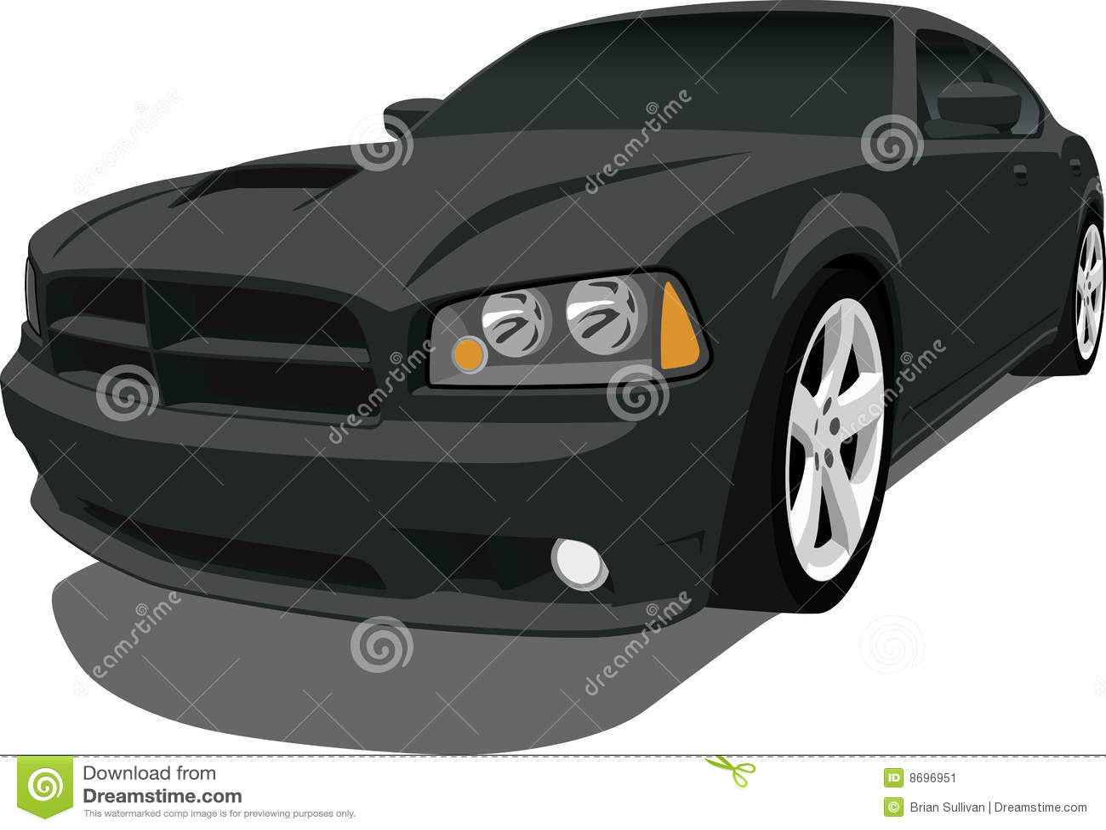 Dodge Charger Sedan Stock Vector Image Of Illustration