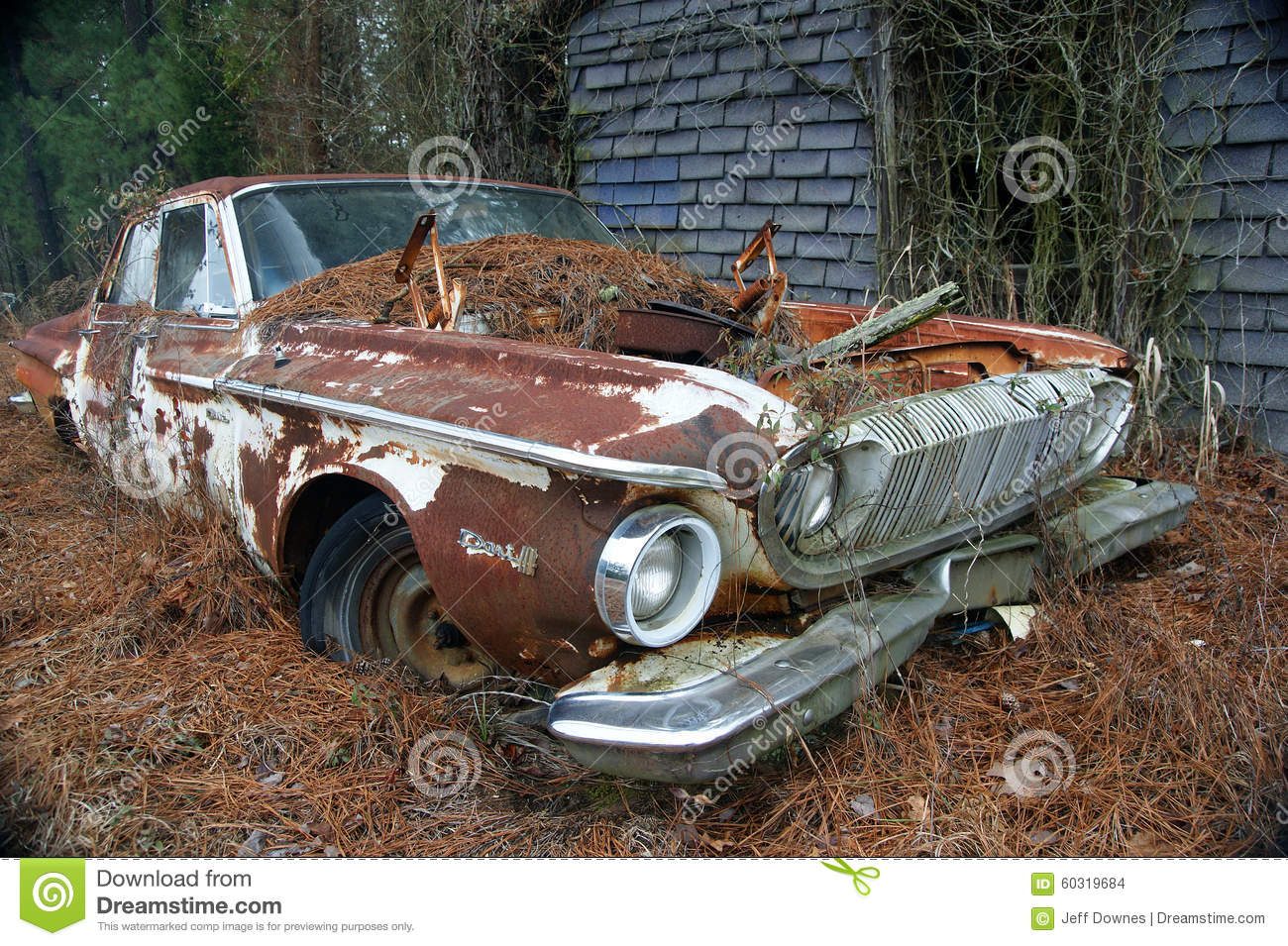 1962 Dodge Dart 440 Four Door Abandon Editorial Stock Image Image Of Power Horsepower 60319684
