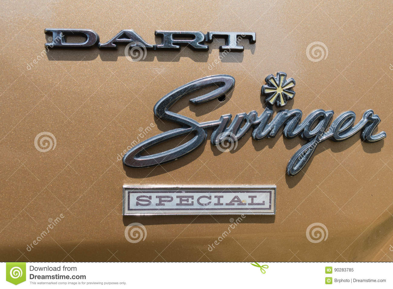 Dodge Dart Swinger Emblem On Display Editorial Image Image Of Auto