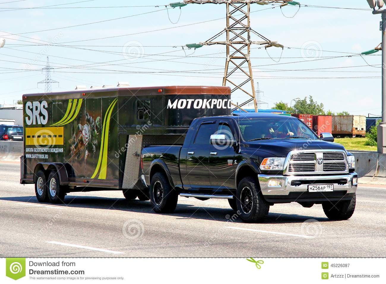 Editorial Photography Dodge Ram Moscow Russia June American Pickup Truck Motocross Racing Team Interurban Road Image45226087 on Heavy And Light Objects Clipart