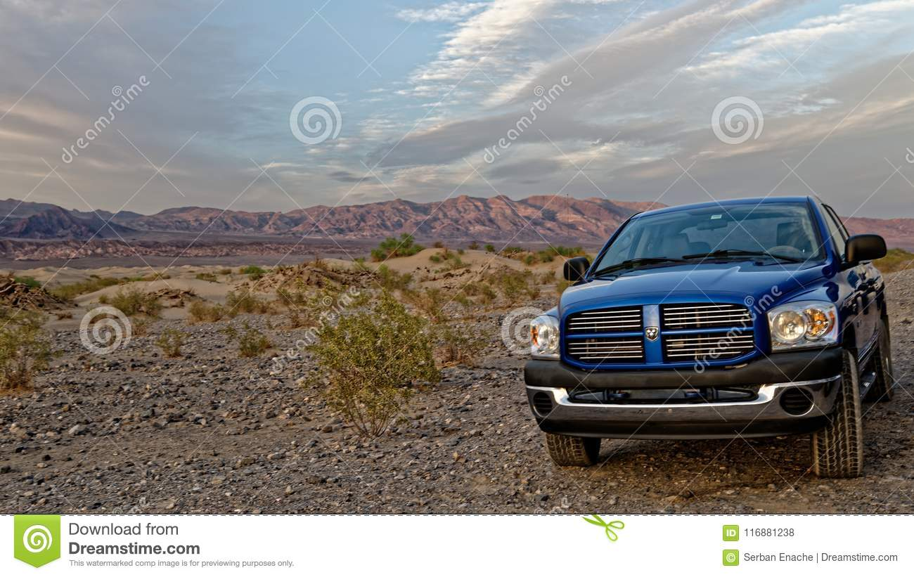 Dodge Ram in Death Valley