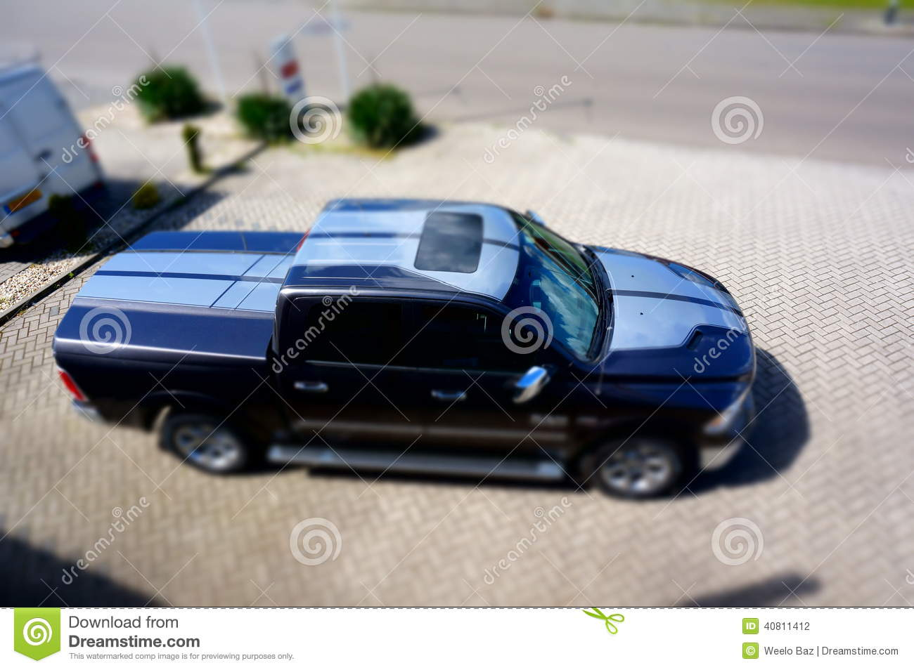Dodge RAM 1500 stock photo. Image of cars, dodge, parked - 40811412