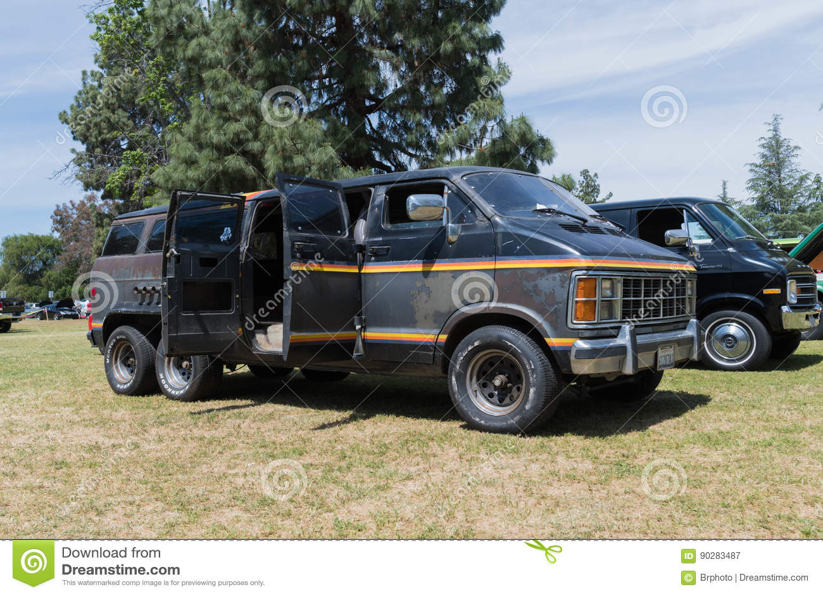 Van Nuys Dodge >> Dodge Ram Van On Display Editorial Photography Image Of Model