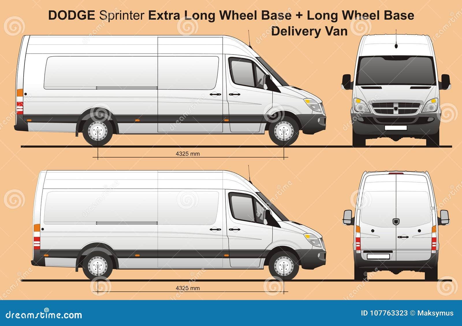 Dodge-Sprinter Extra-LWB und LWB-FrachtLieferwagen 2010