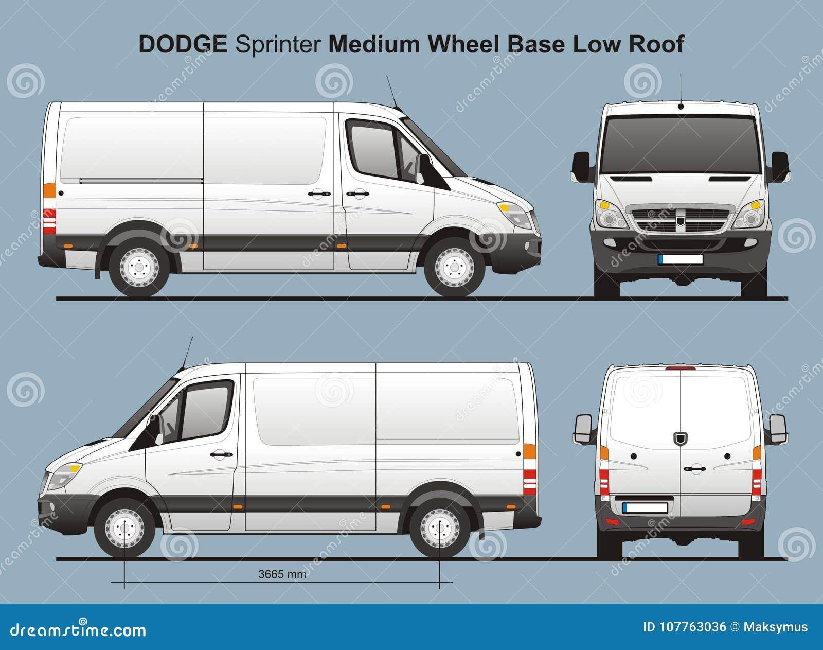 Dodge Sprinter Mwb Low Roof Delivery Van 2010 Editorial Photo