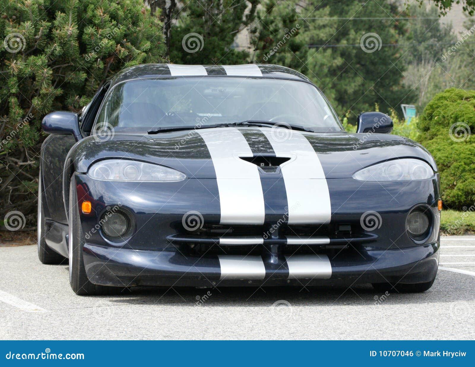 Dodge Viper Black stock photo. Image of headlights, front - 10707046