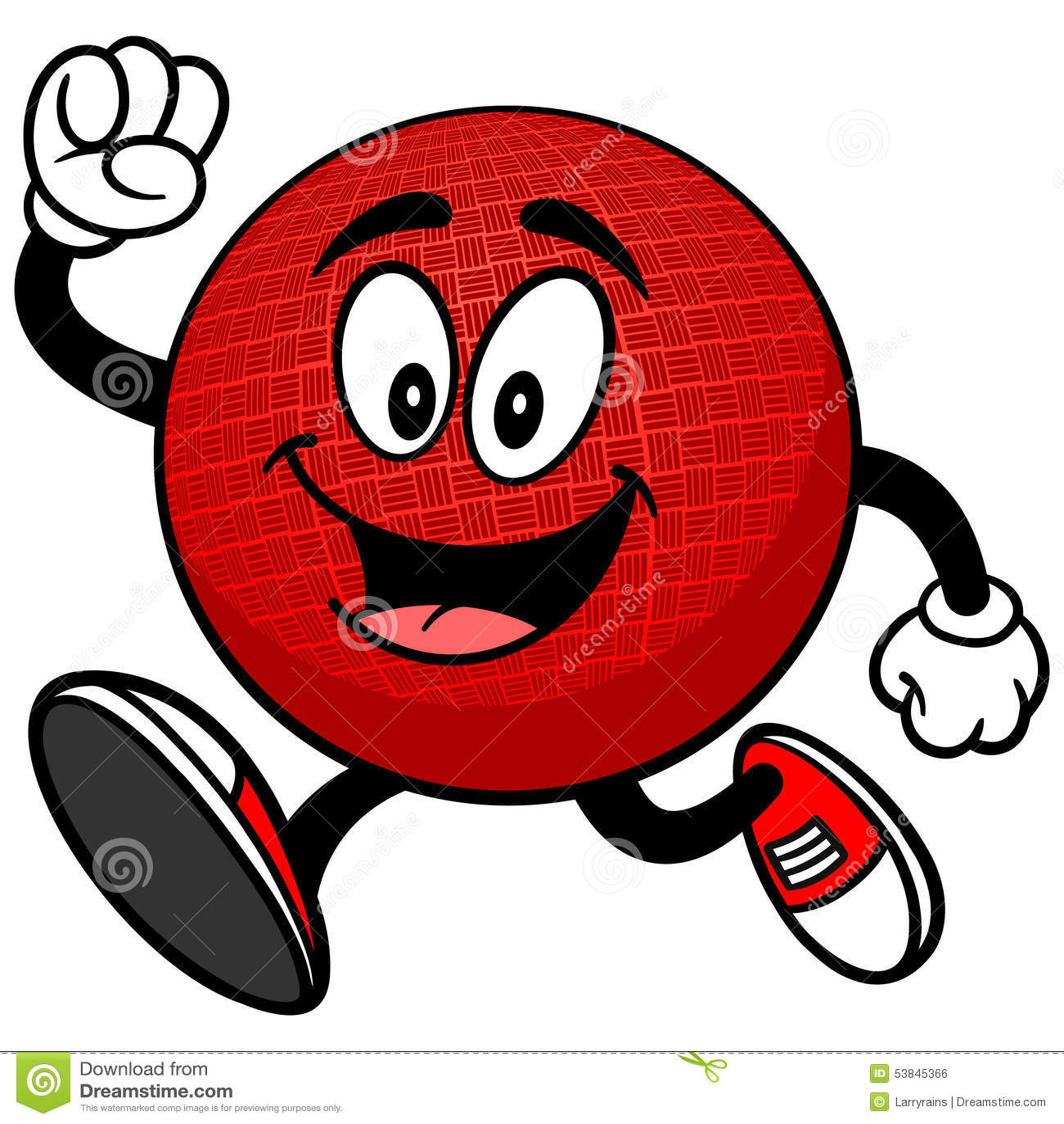 dodgeball mascot running stock vector image 53845366 Dodgeball Graphics Background Dodgeball Ball Clip Art