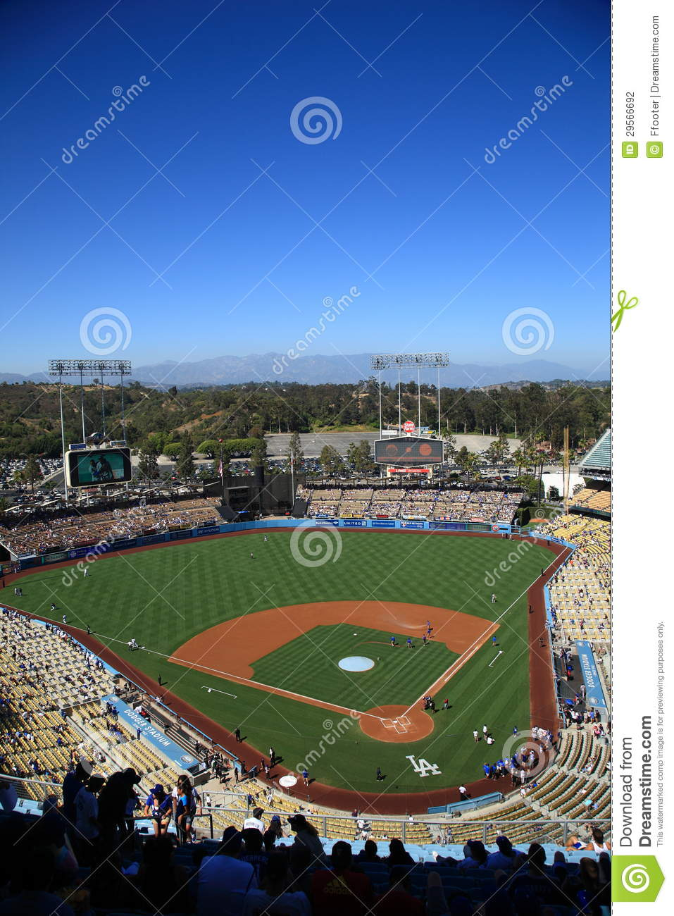 Pin dodger stadium los angeles dodgers 22193442 2560 for Dodger stadium wall mural