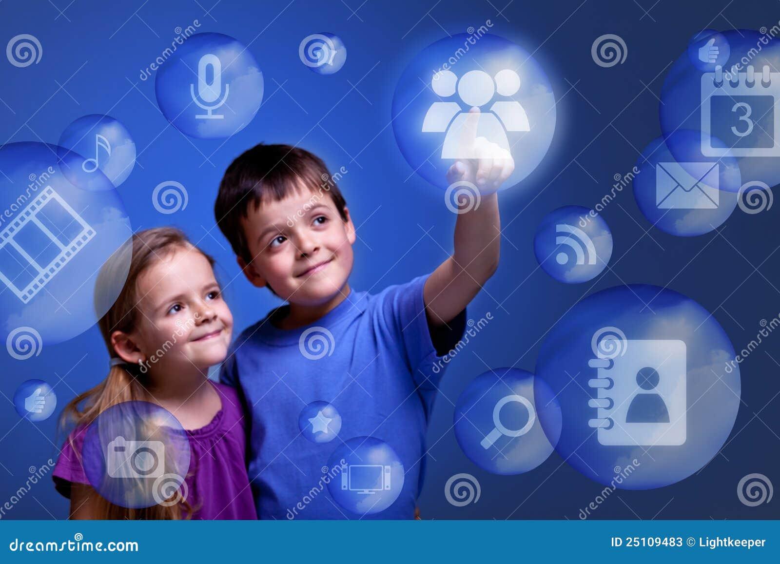 Dodzwonienia zastosowań obłoczni dzieciaki
