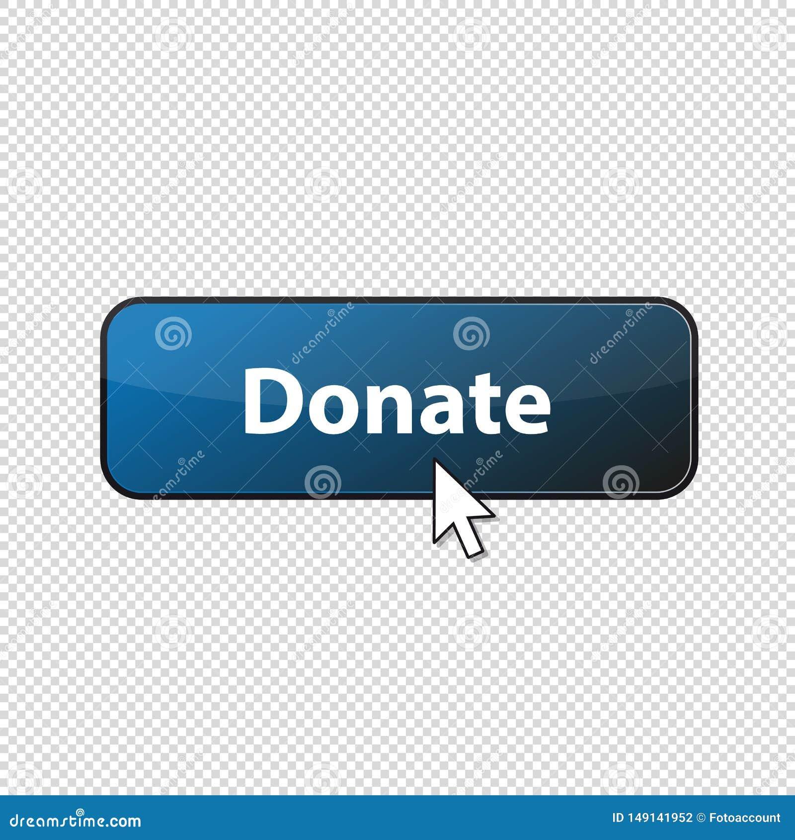 Doe o botão lustroso com a seta - ilustração do vetor - isolada no fundo transparente