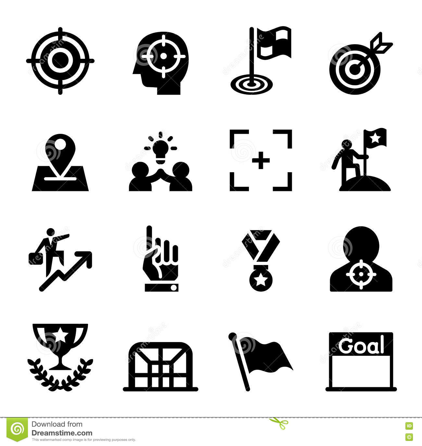 Doel, Doel, Doel, de reeks van het opdrachtpictogram