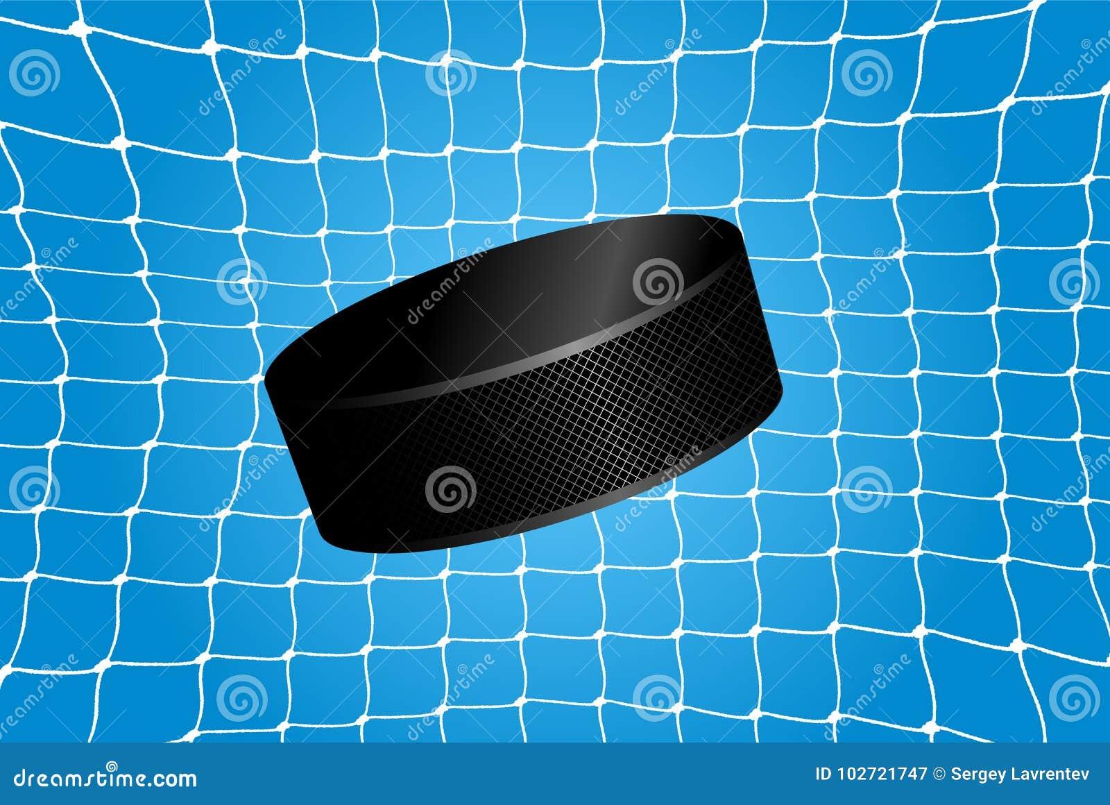 Doel - een hockeypuck in het net
