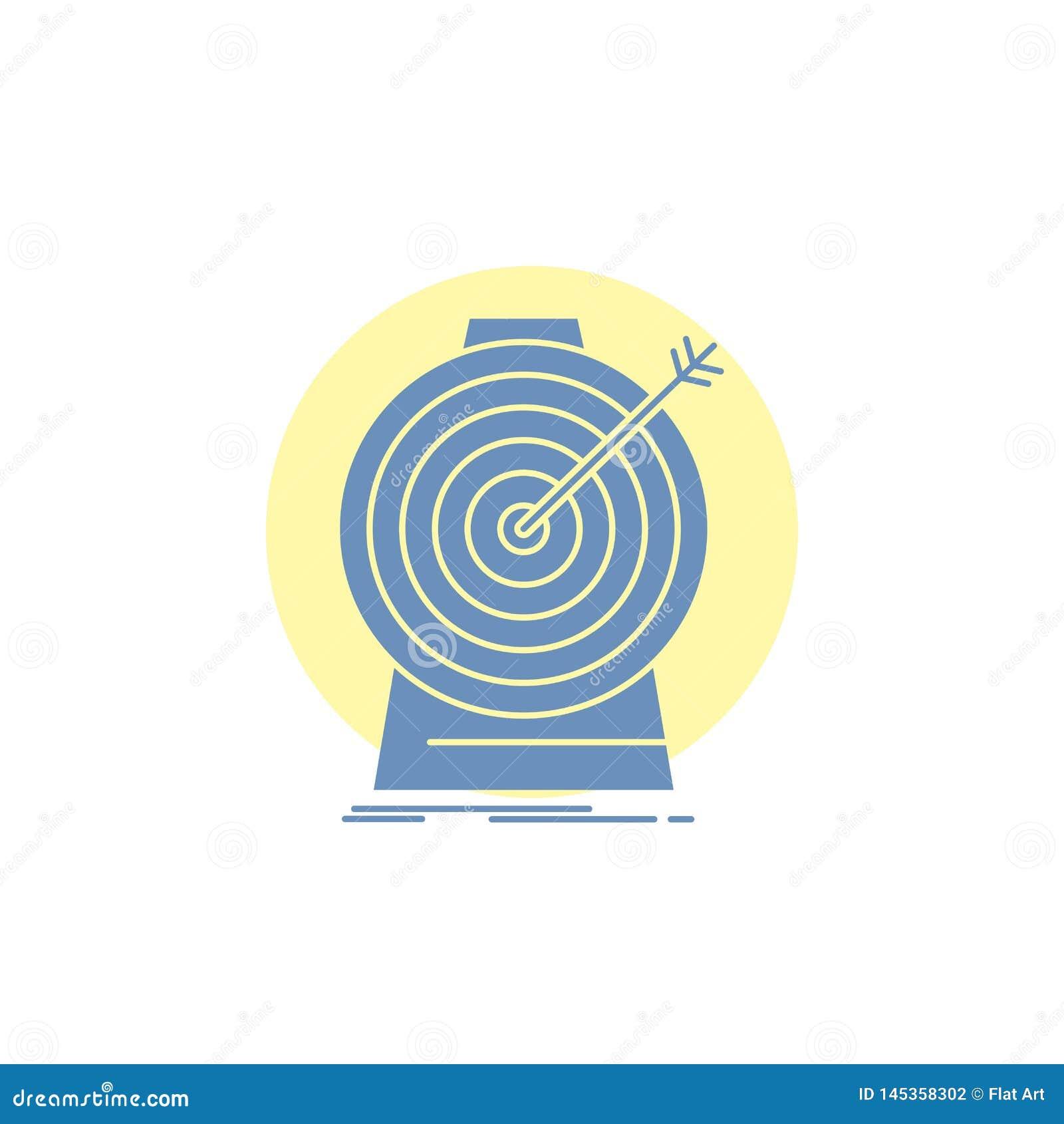 Doel, nadruk die, doel, doel, Glyph-Pictogram richten