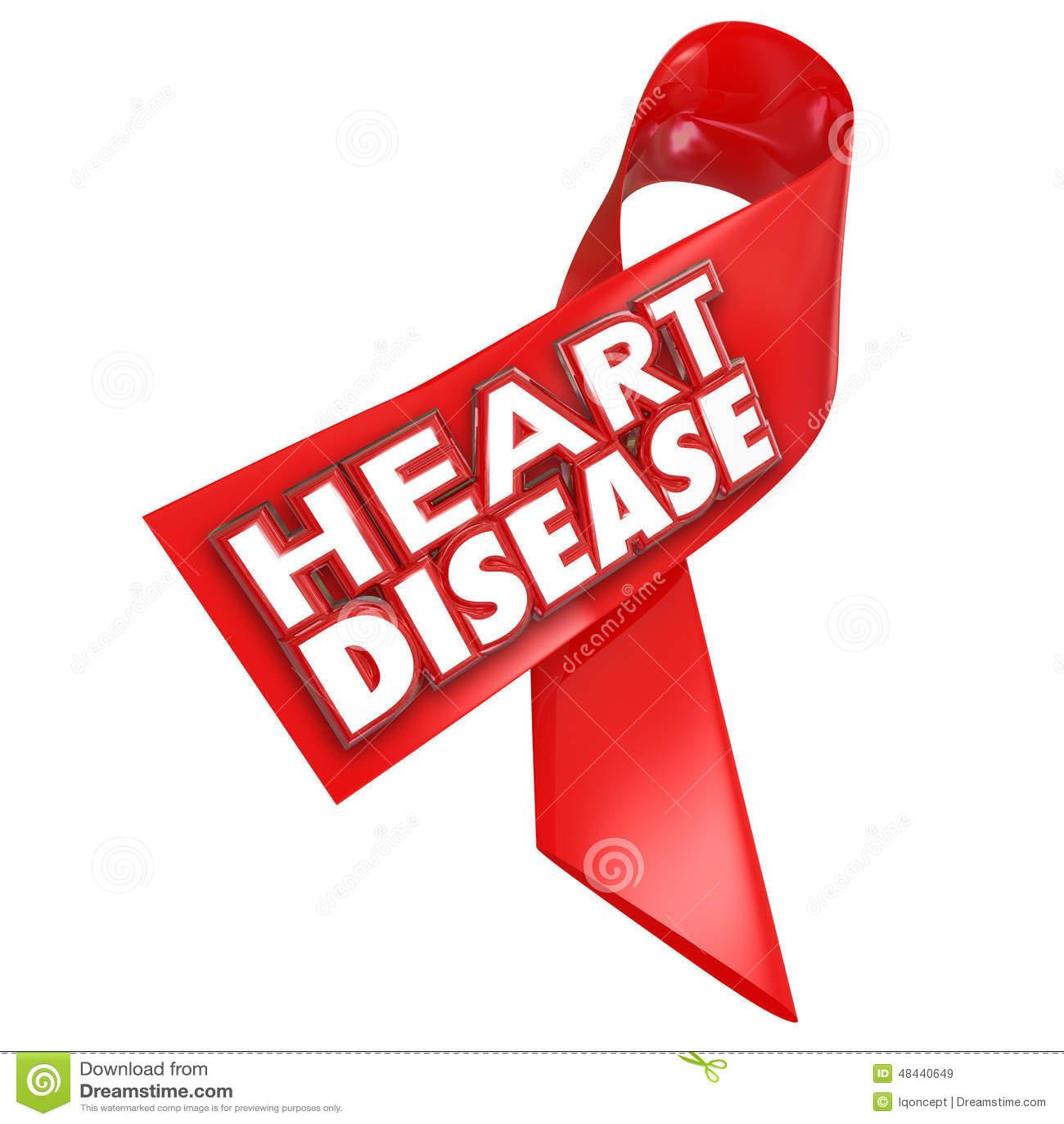 Doença coronária da condição da cura da fita da conscientização da doença cardíaca