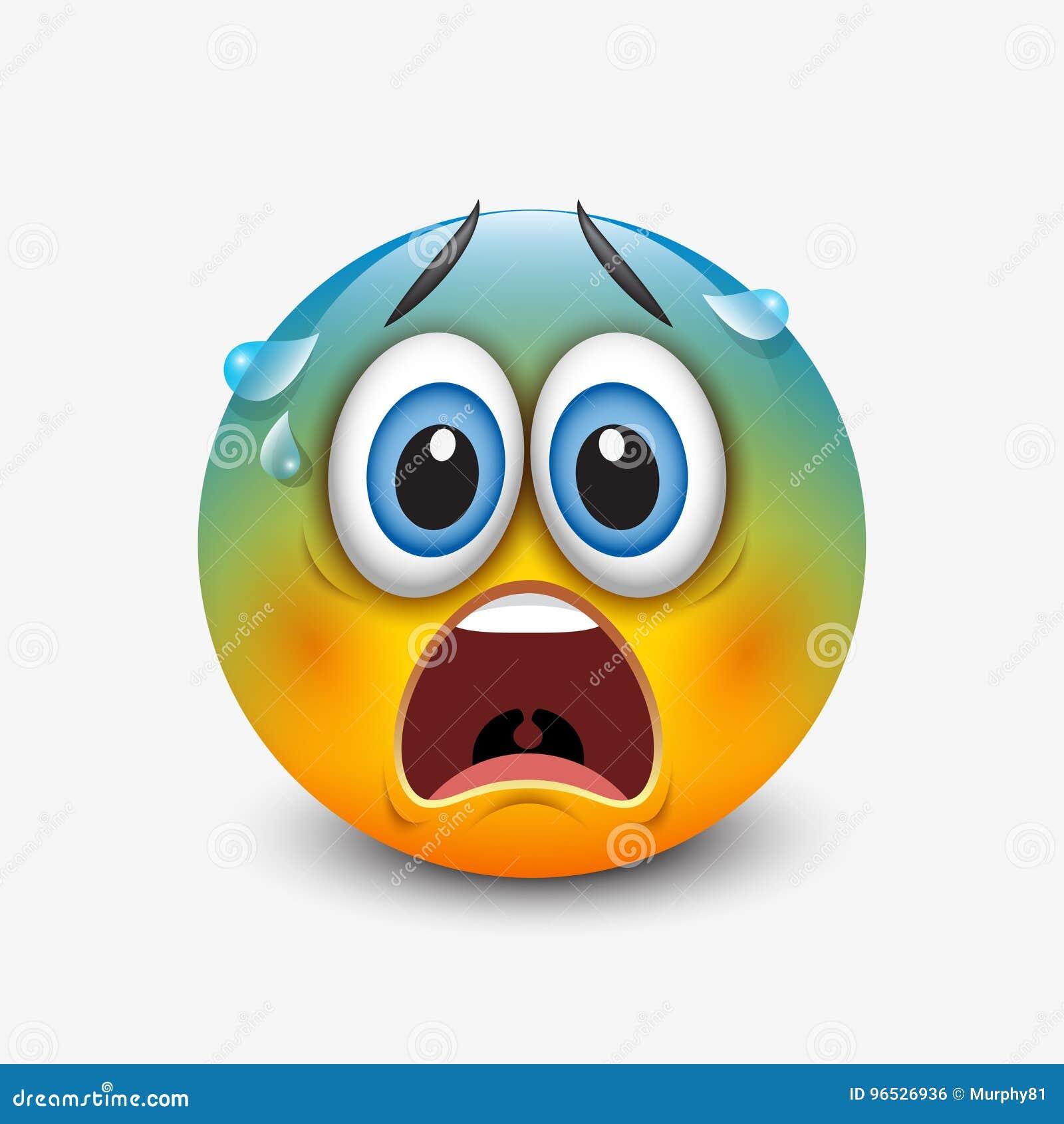 doen schrikken emoticon  emoji  smiley vectorillustratie emotion clipart black and white emotional clip art