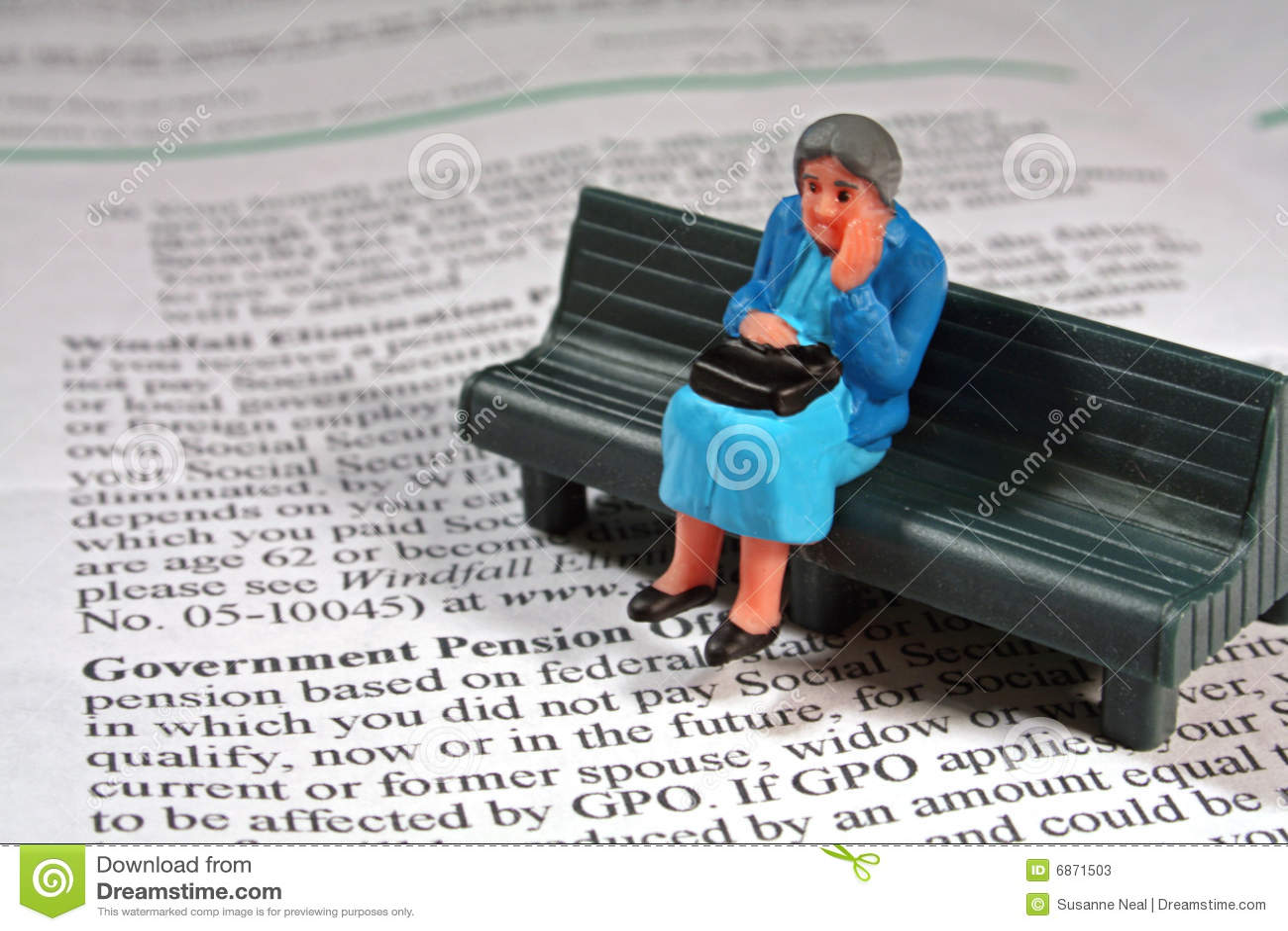 Doen schrikken hogere vrouw - pensioen