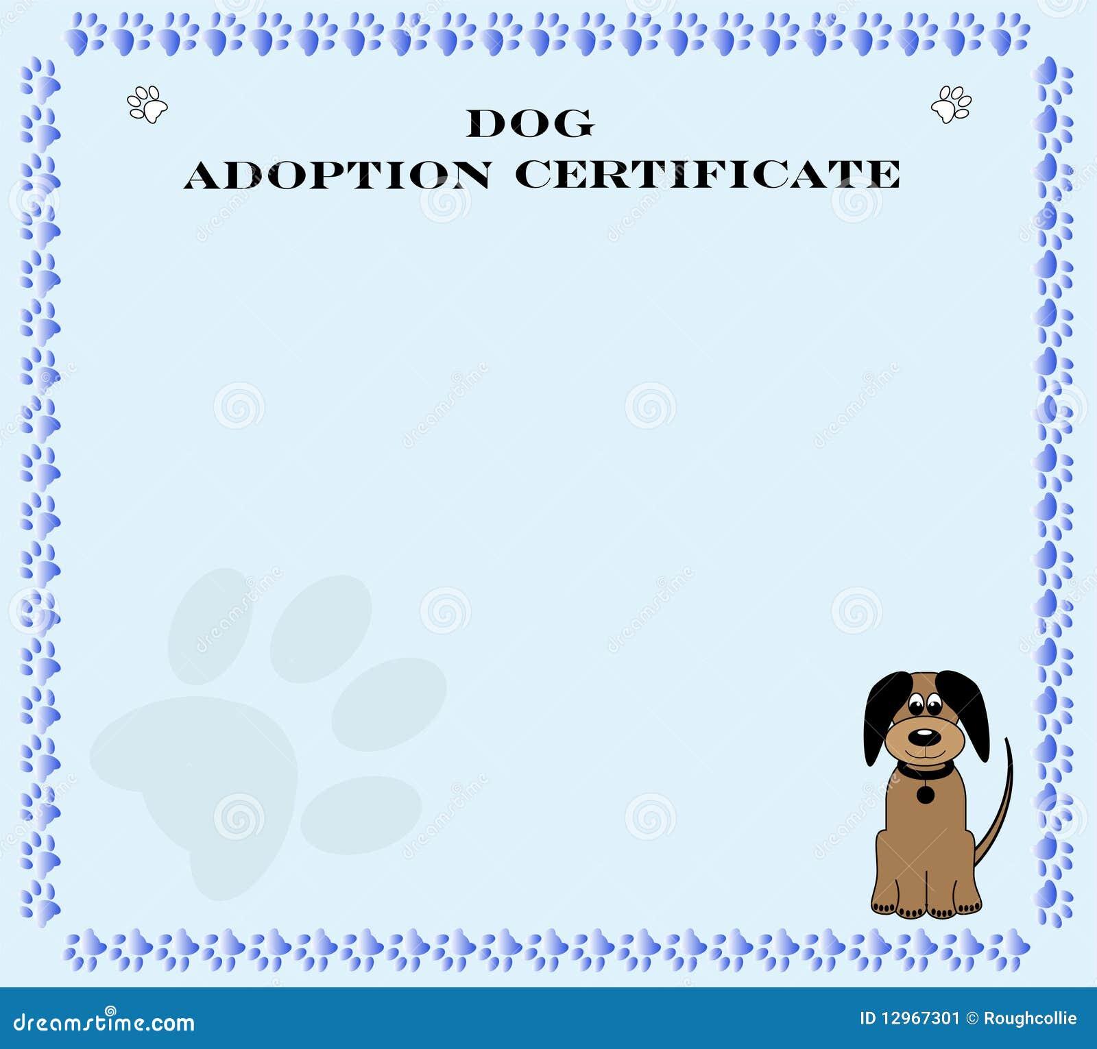 pet adoption certificate nivucolorhd – Adoption Certificate Template