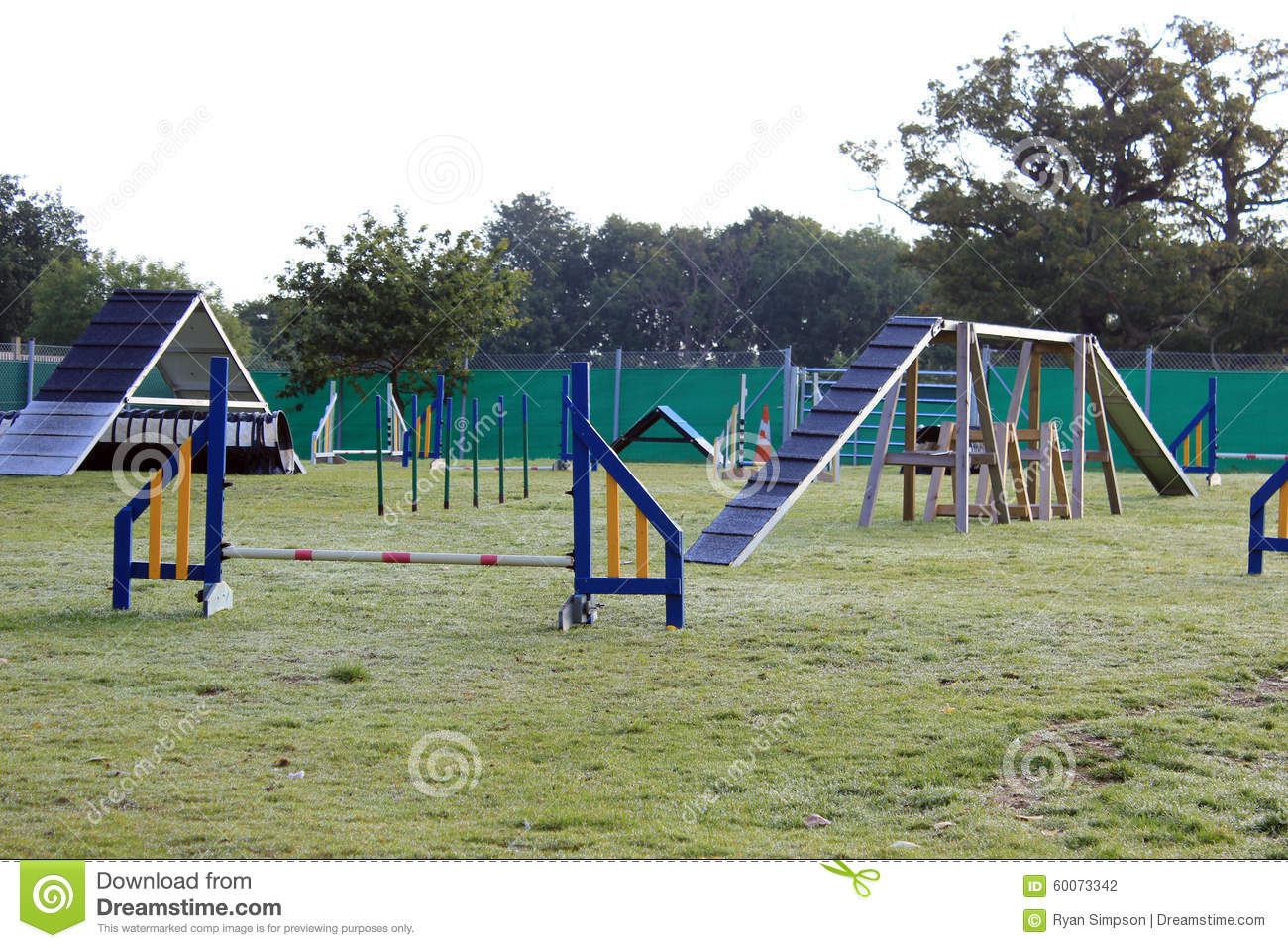 dog agility course stock photo image of course agility