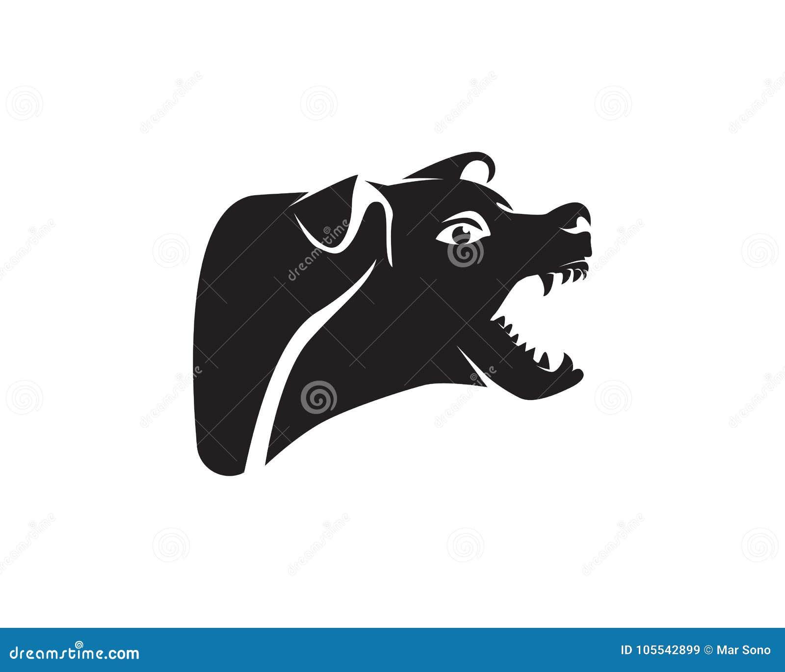 Dog Animals Logo Pets Shop Template Icons App Stock Vector