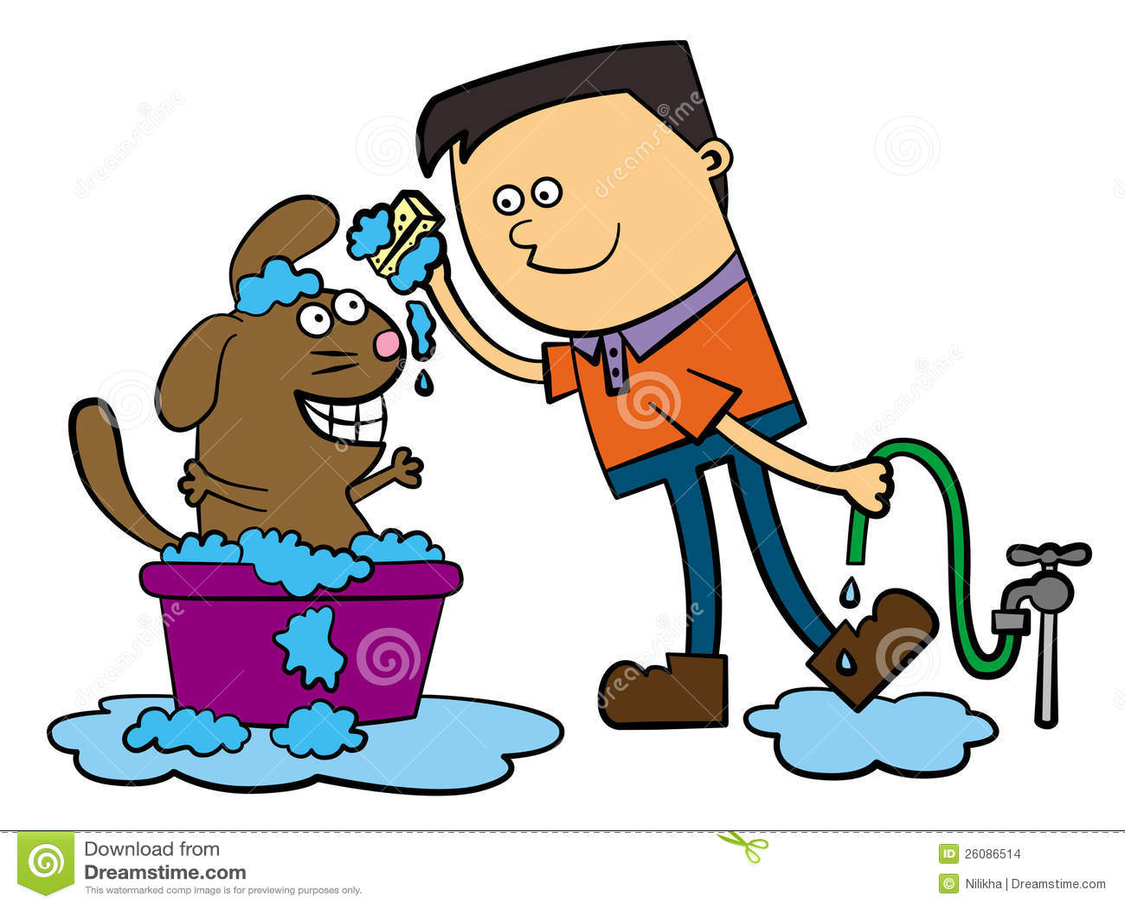 Dog Bath Stock Illustration Illustration Of Animal Soap
