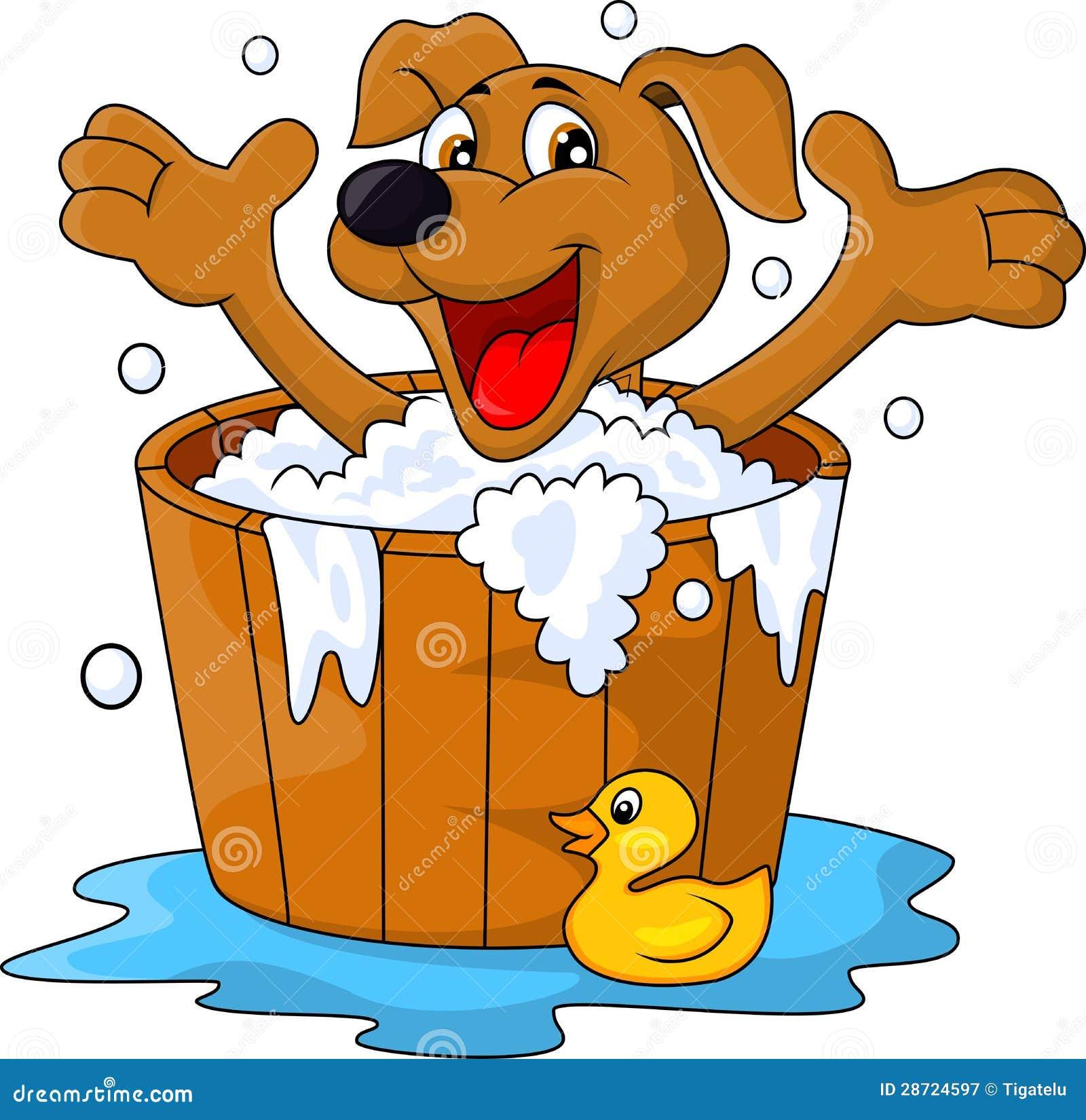 Dog bathing time royalty free stock photography image for Bathing images