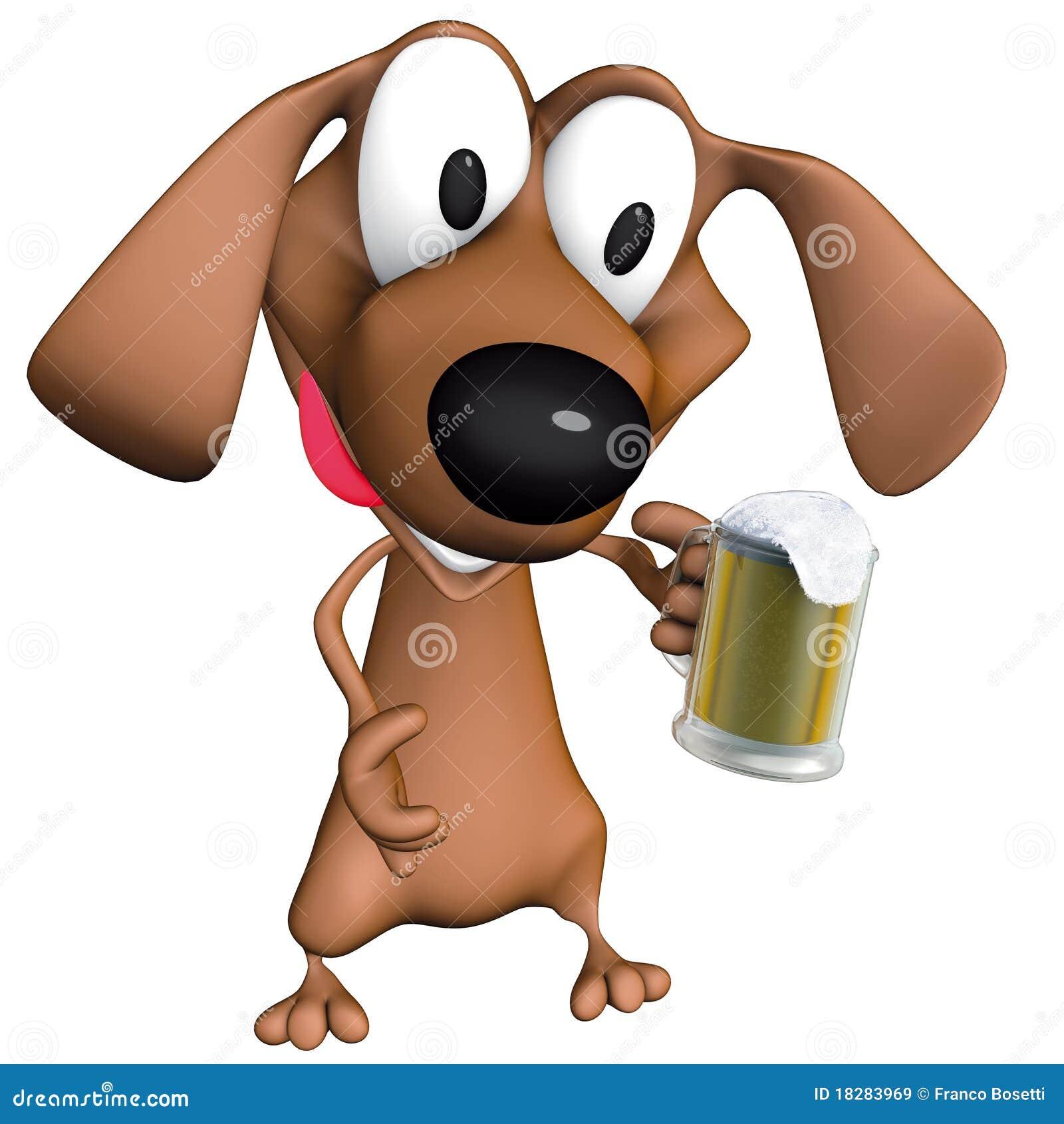 Thirsty Dog Clipart Dog beer mug