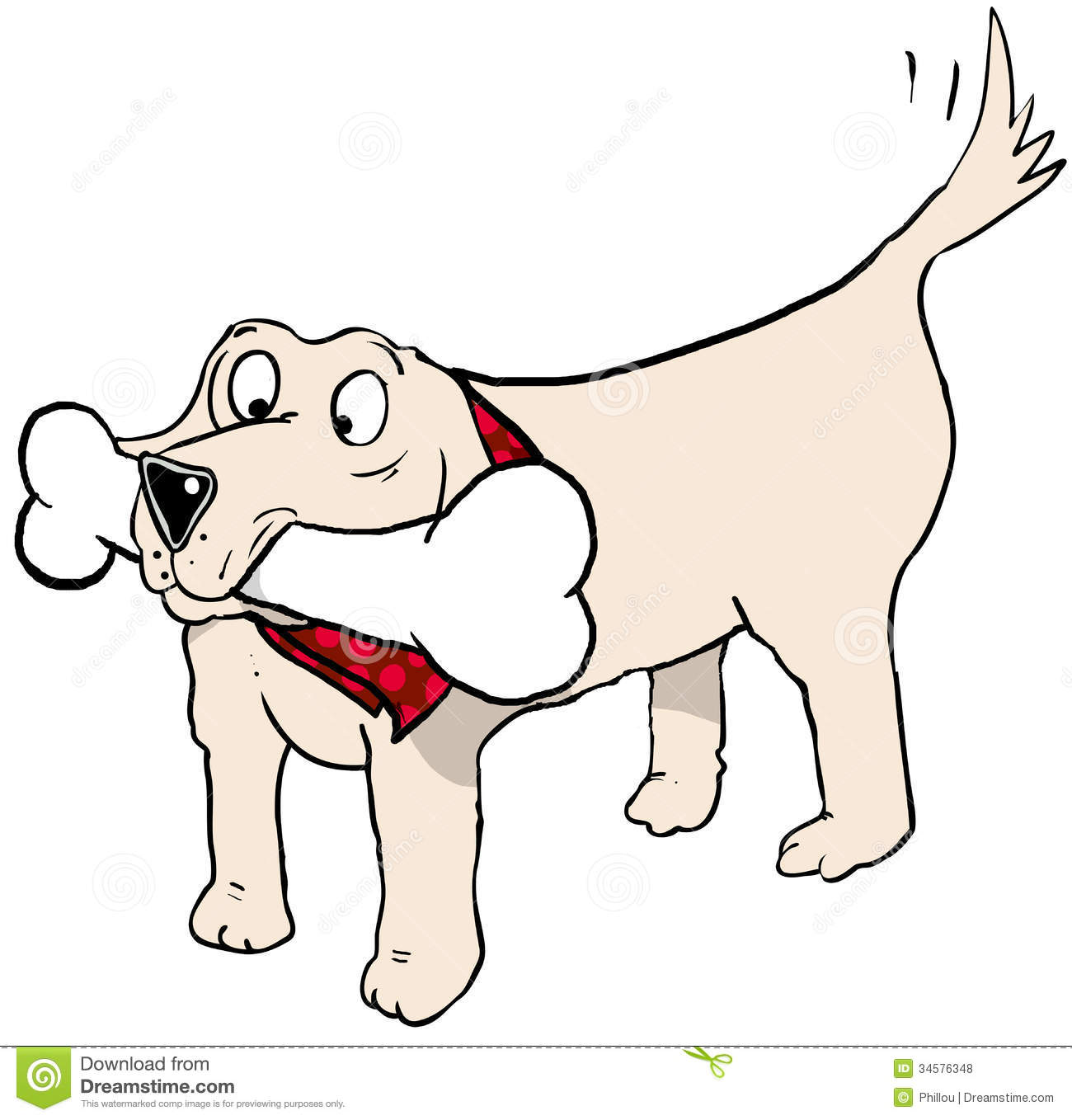 Cartoon Dog With Big Mouth