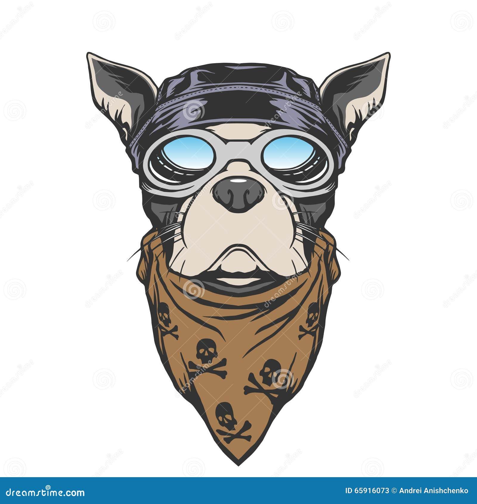 Dog Biker Illustration Stock Vector Illustration Of Puppy