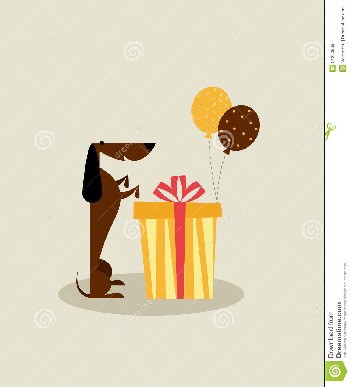 Dog birthday card stock vector illustration of holiday 21293569 dog birthday card bookmarktalkfo Images