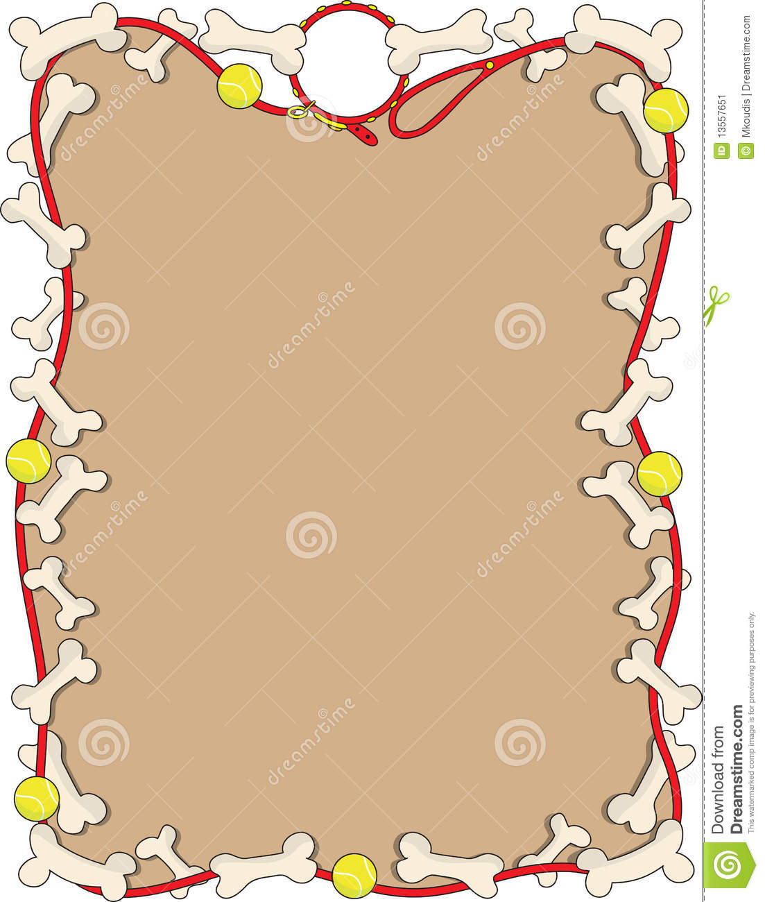 Dog Bone Border Clipart Dog bone border
