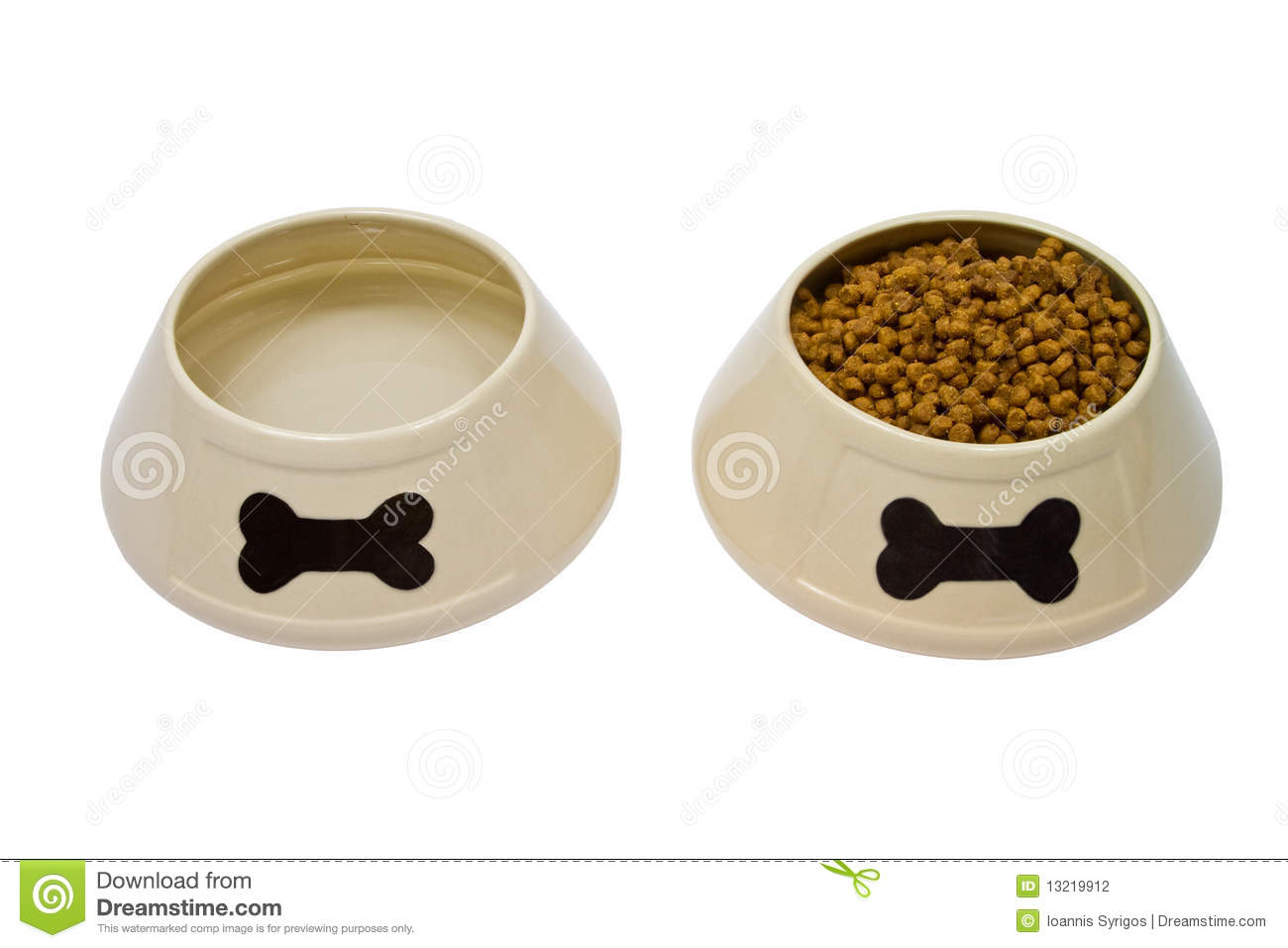 Black And White Dog Food Bowls