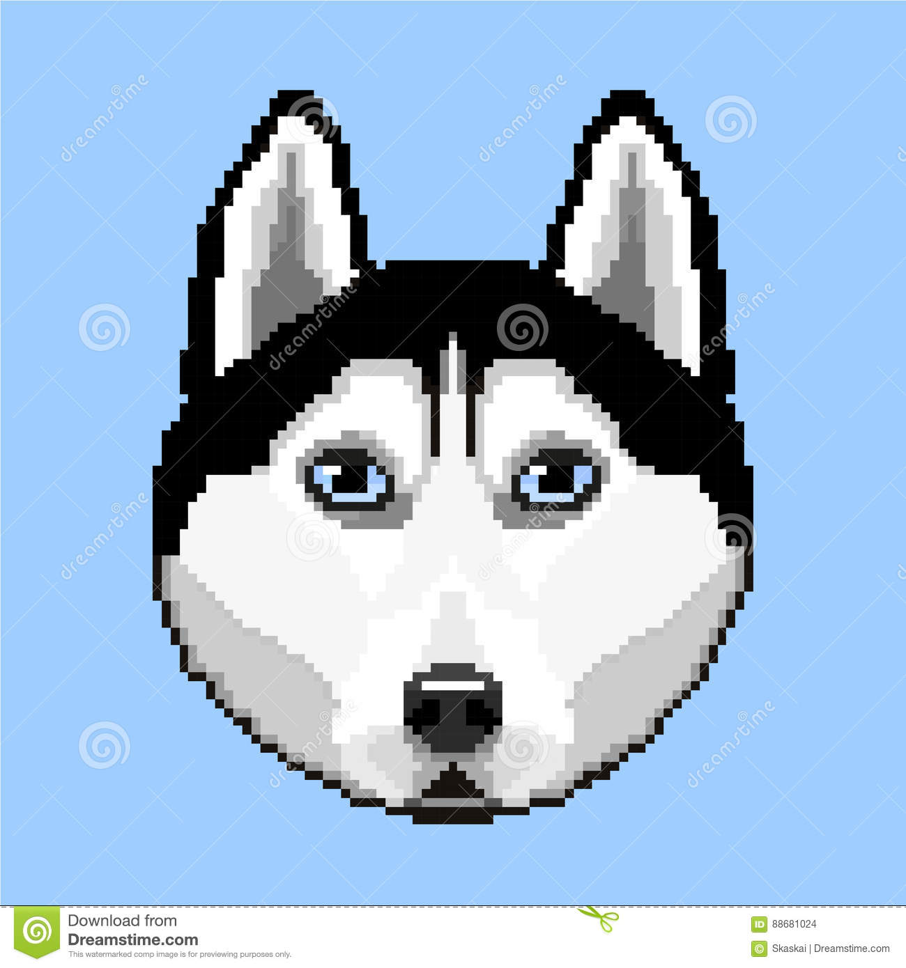 The Dog Of Breed Husky Stock Vector Illustration Of Pets