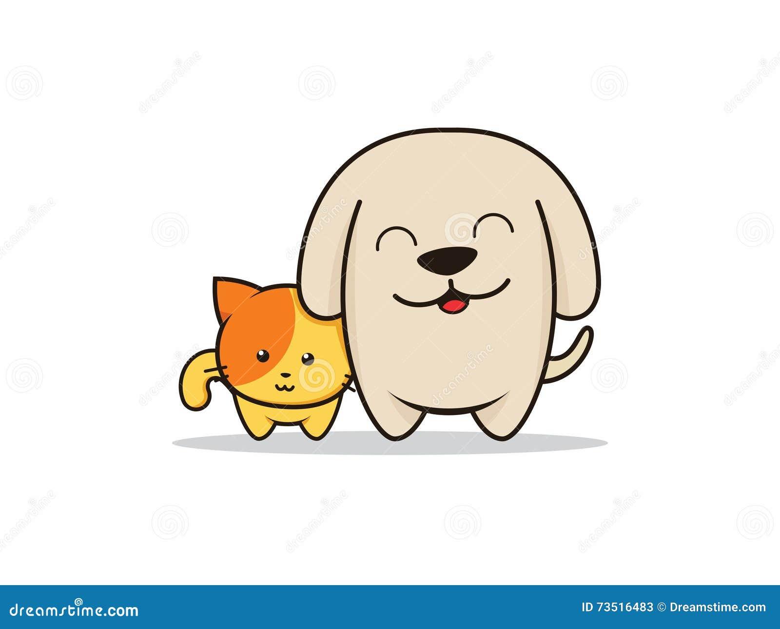 Dog And Cat Cartoon Illustrator Stock Vector Illustration Of Illustrator Character 73516483