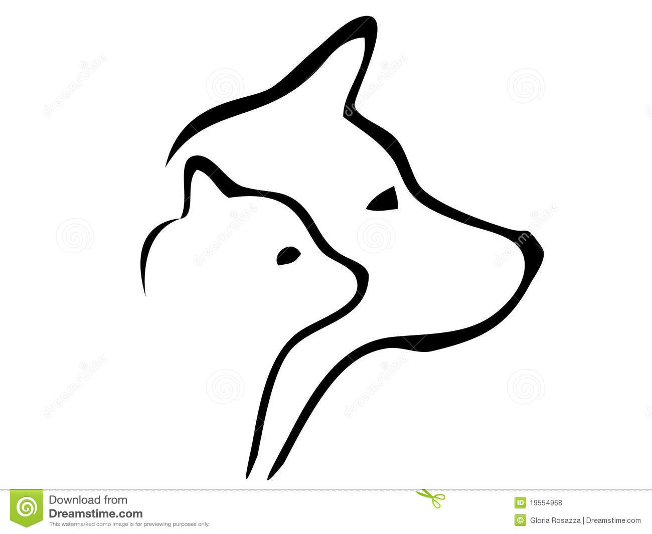 free clipart of dog and cat together - photo #32