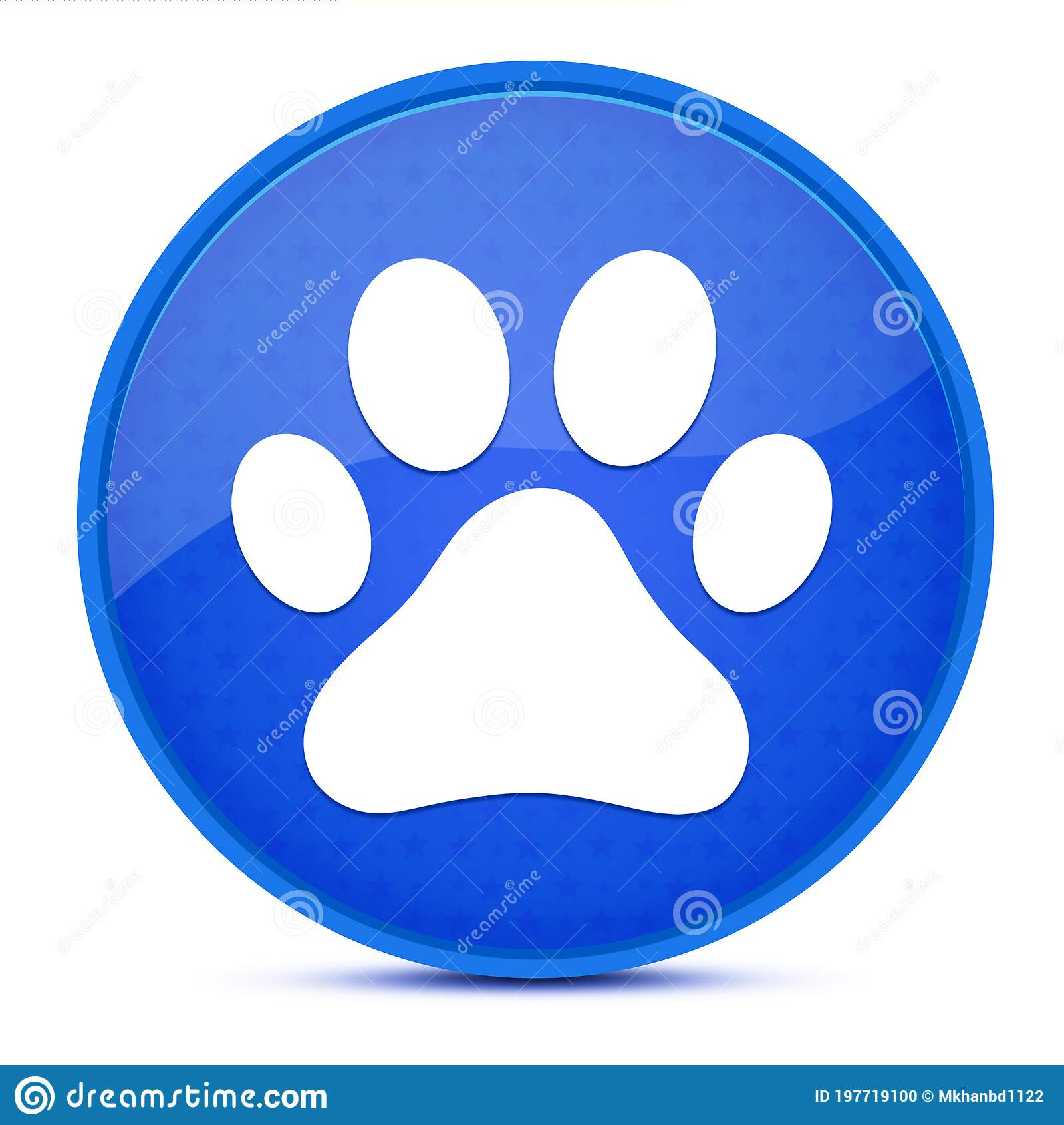 Dog Or Cat Paw Print Aesthetic Glossy Blue Round Button Abstract Stock Illustration Illustration Of Moggie Puppy 197719100