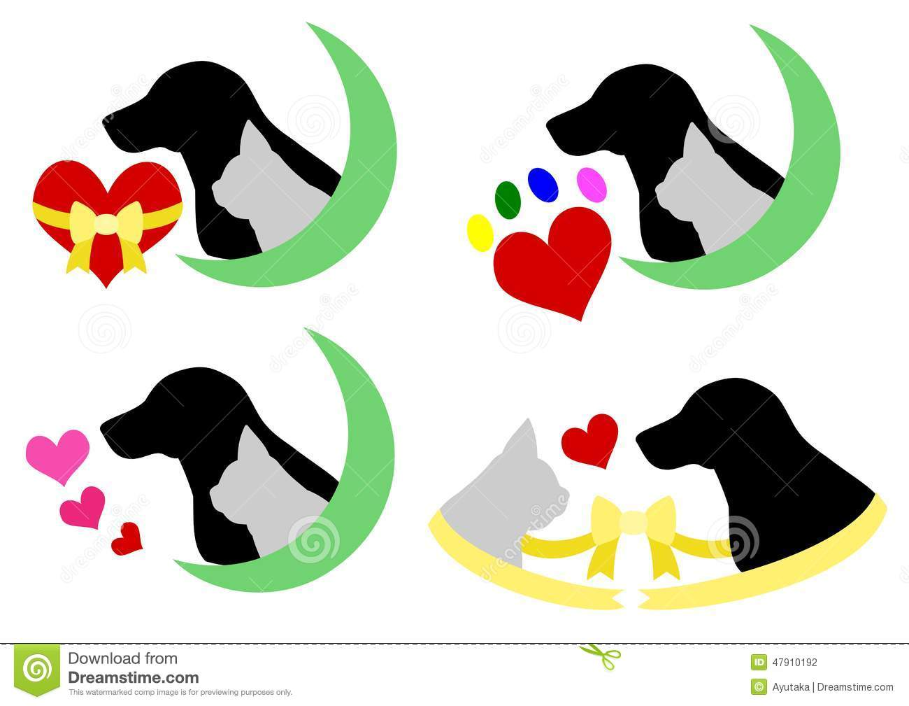 cat dog heart silhouette hospital black moon green protection